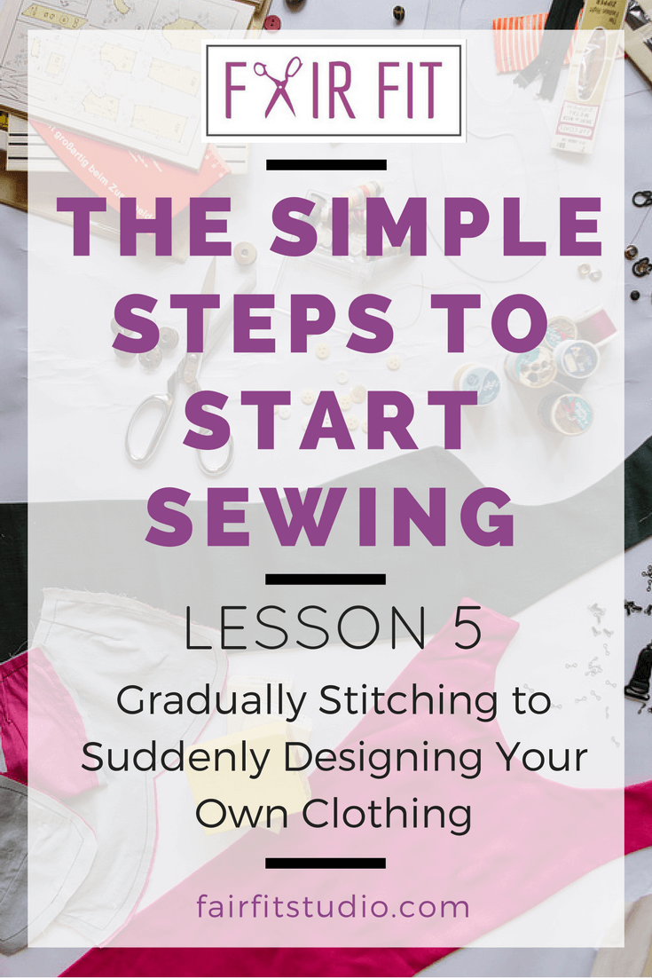Let's get inspired- a huge part of learning to sew is the time spent in actual practice. How do you go from learning how to sew, to sewing some actual clothes? Click through to the article, its jam packed with a case study and helpful insights into what the design and sewing process for a beginner just like you!