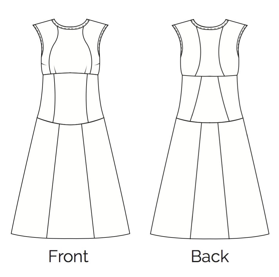Fair Fit Dress Technical Sketch