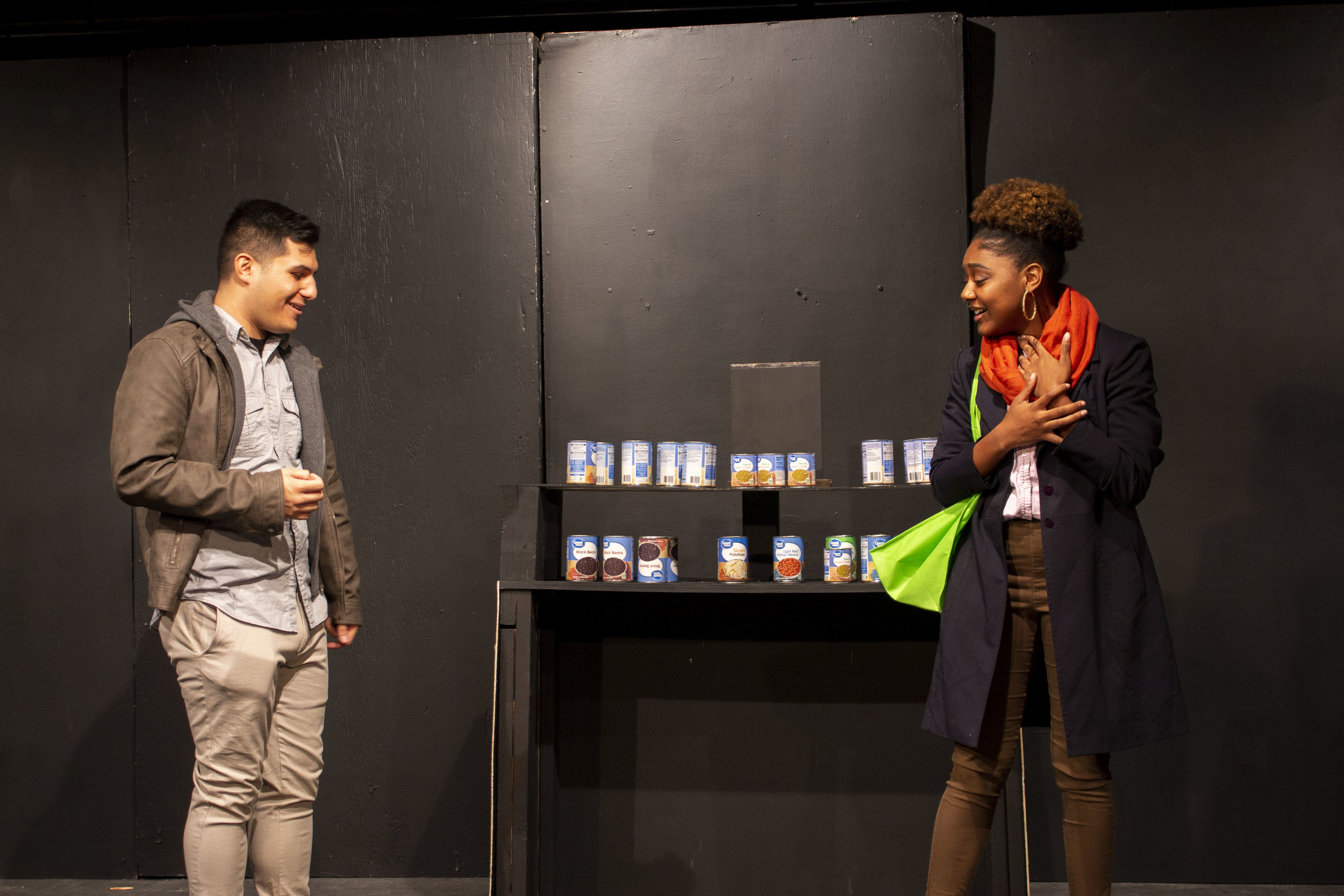 Richard Urquiza and Jade Chandler in  Buyer's Market , directed by Kyle Higgins