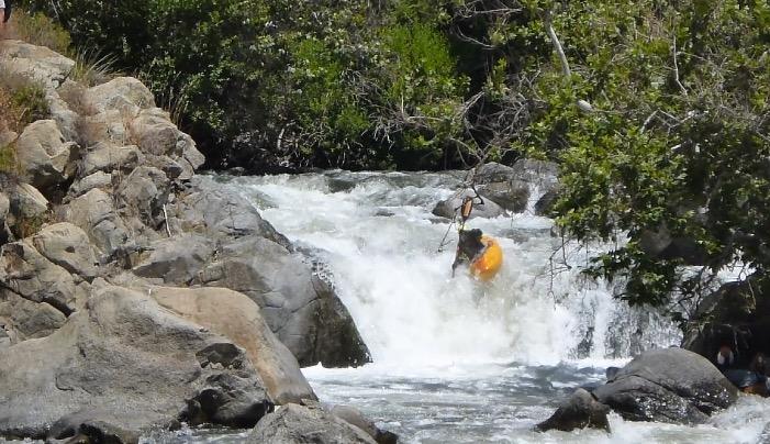 Mantequilla Falls on the Lucas Creek run