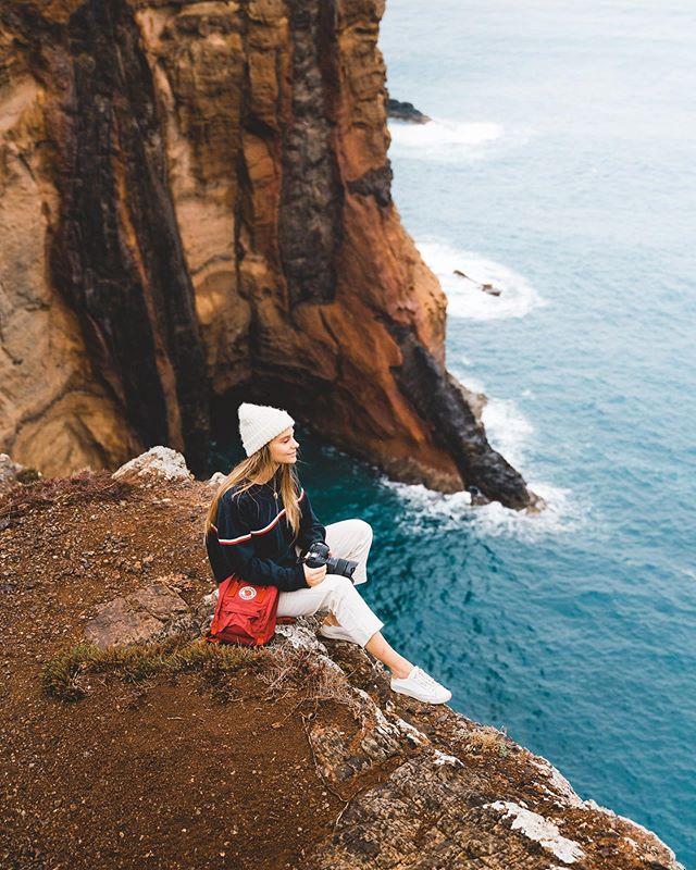 Joelle always hanging by cliff edges, sheesh 😳 @joellefriend