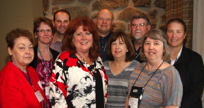 (L to R) Barbara Hente, Tammy Homan, Benjamin Morris, Pamela Fulmer, Norman Hente, Joan Hedrick, Dan Cantrell, Donita Shipman, Debra Hurst.