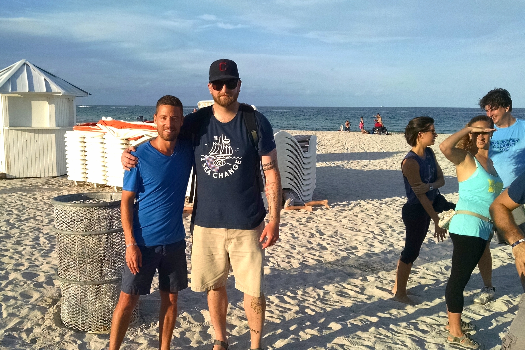 Myself and some Surfrider Miami beach clean up team. We collected over 8 bags of trash - mostly plastic wrappers, bottle caps, and microplastic pieces - in just a couple of hours.