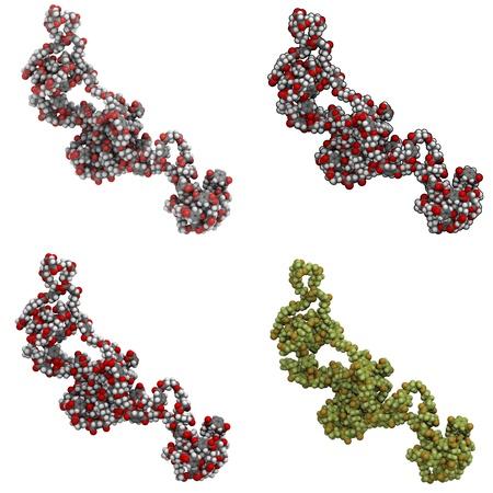 Molecule of biodegradable plastic
