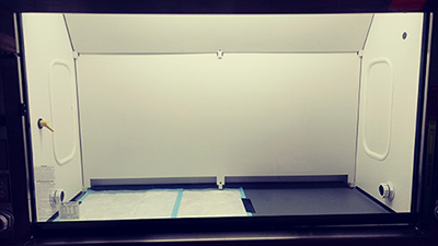 After: clean fume hood