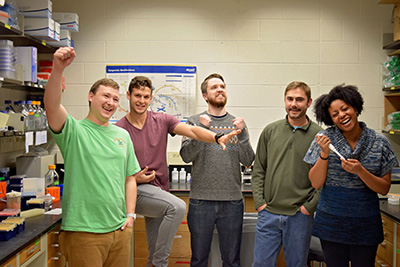 The McConnell Lab celebrated an honorable mention award for sharing the most information about safe and sustainable fume hood practices with neighboring labs.