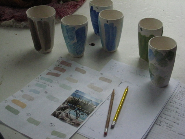 Creating colour samples