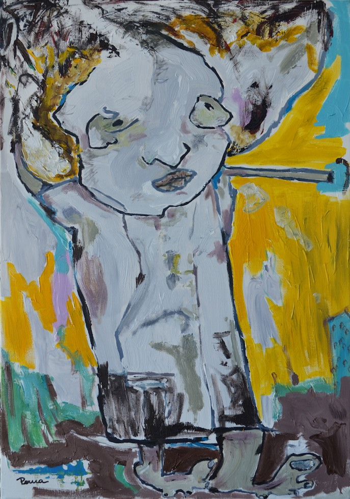 "Street Kid - 36"" x 24"" Acrylic on Canvas"