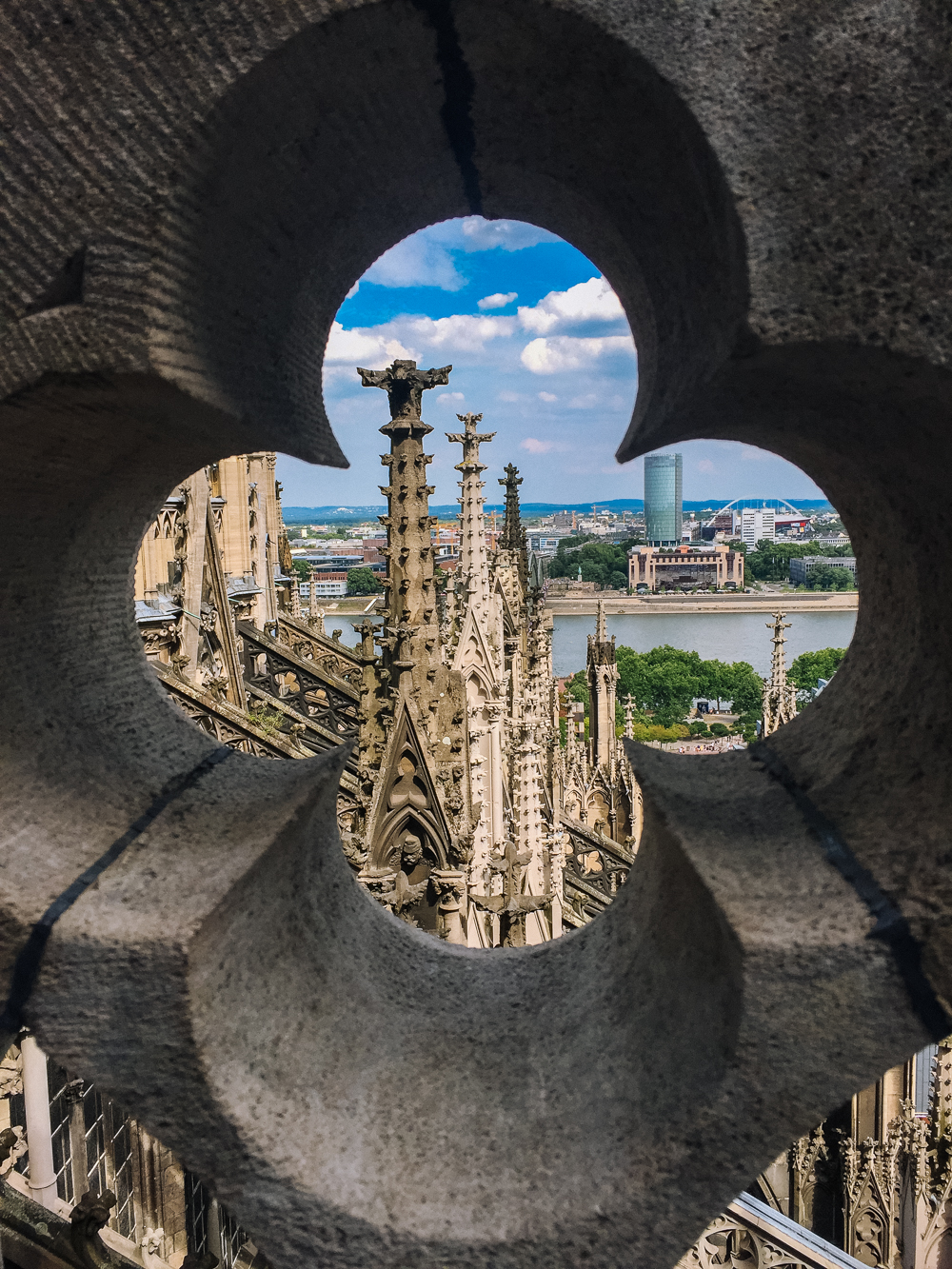 Top of Cologne Cathedral, Cologne, Germany