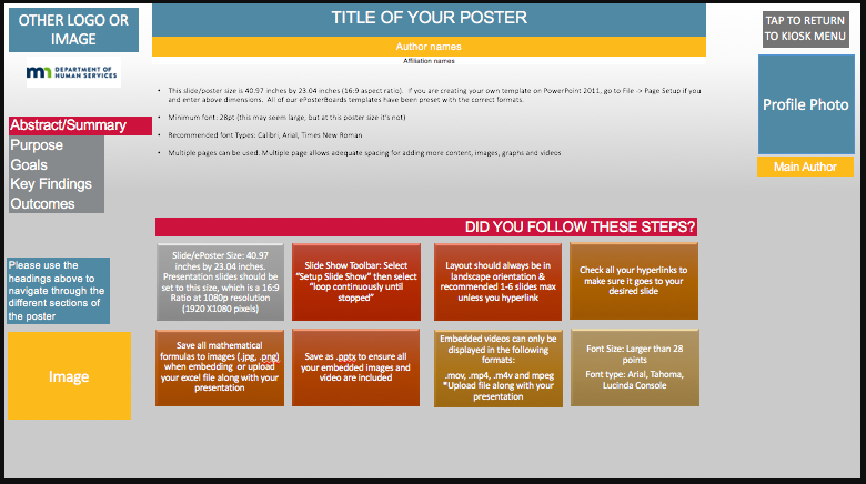 DHS Template 4- Hyperlink Buttons -