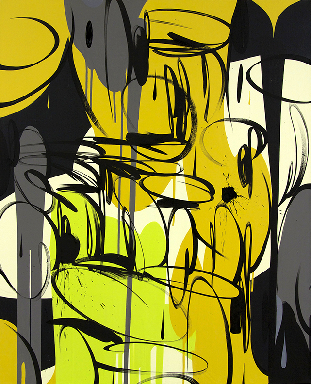 Pareidolia Yellow Black