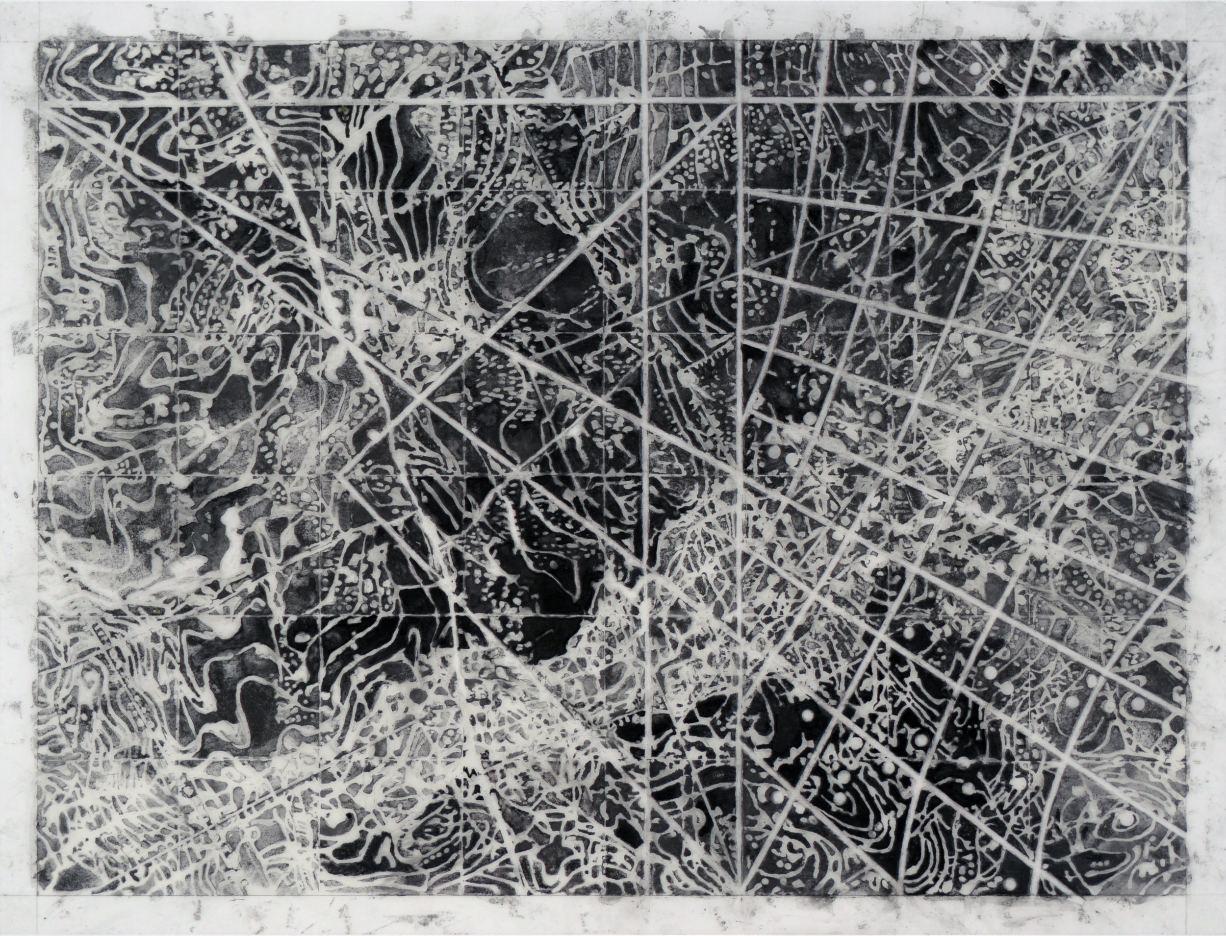 Navigation, 2015 Graphite, mixed media on Dura-Lar 17.5H x 23W inches unframed 3.5H x 28.63 inches framed