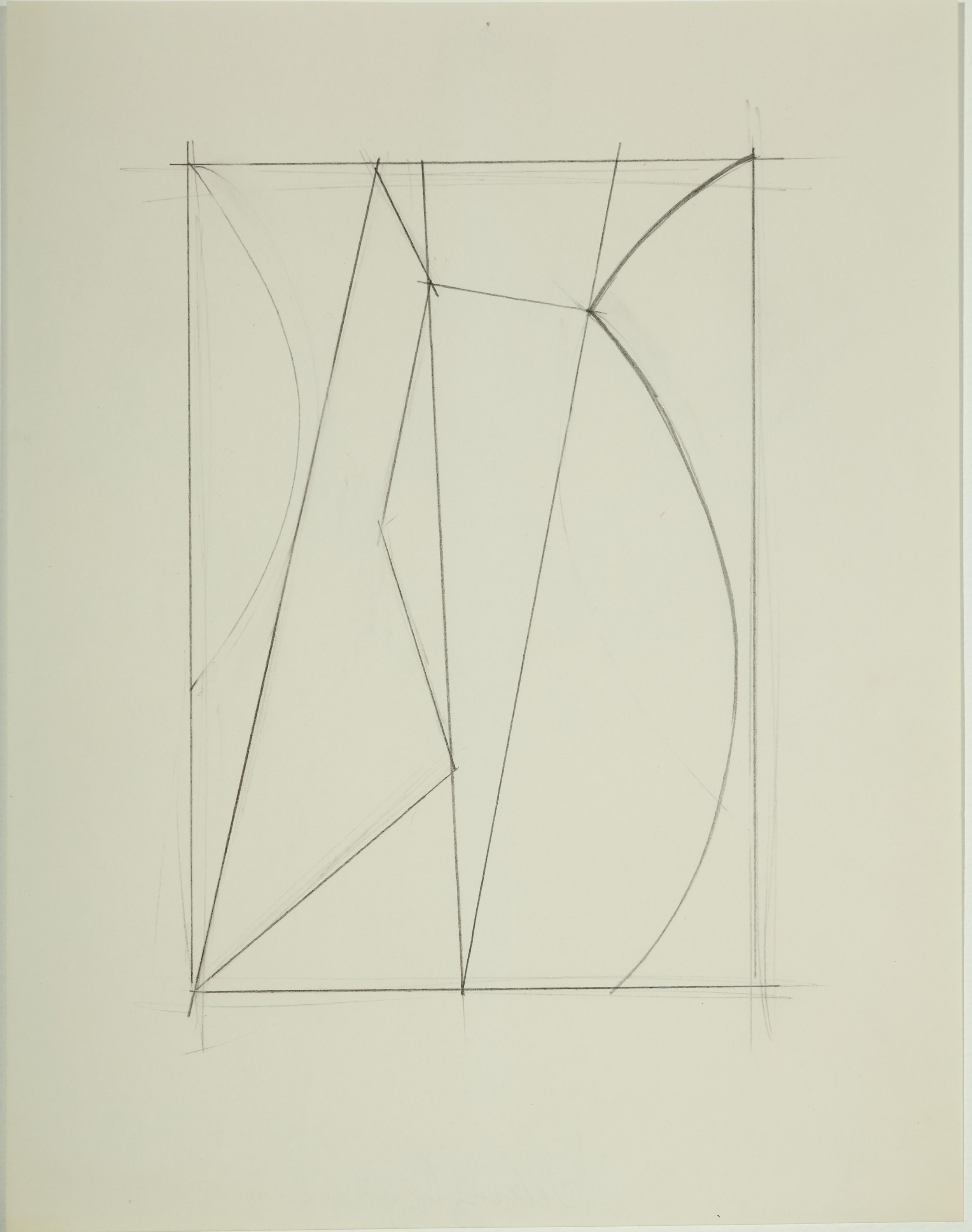 Untitled,  1983 Pencil on paper 11H x 8.50W inches