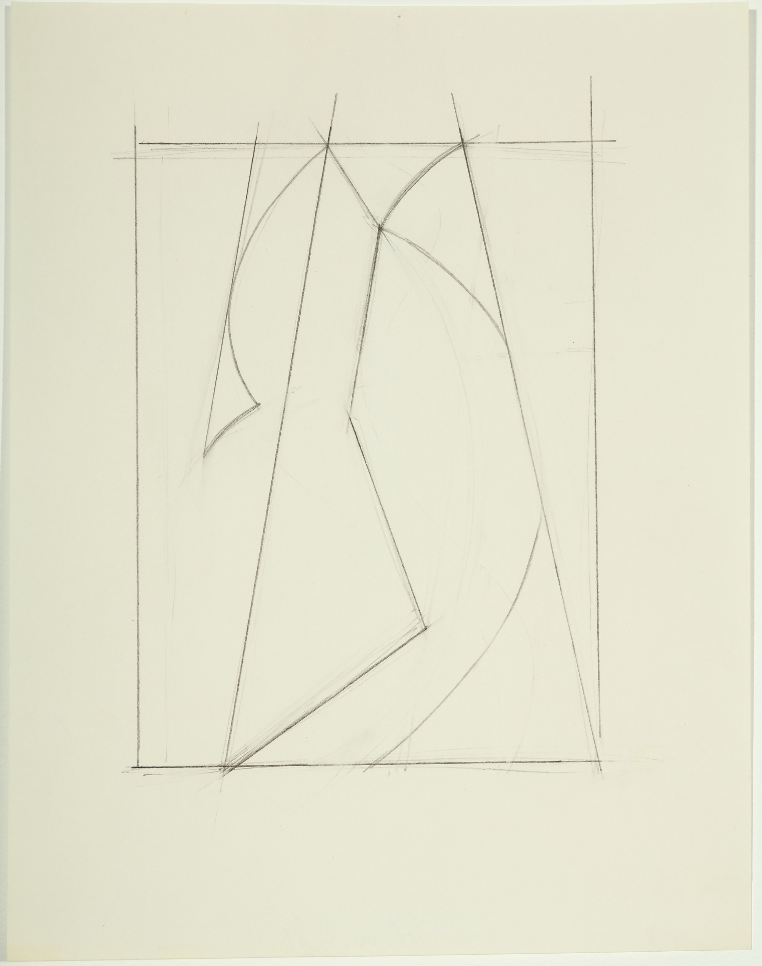 Untitled , 1983 Pencil on paper 11H x 8.50 inches