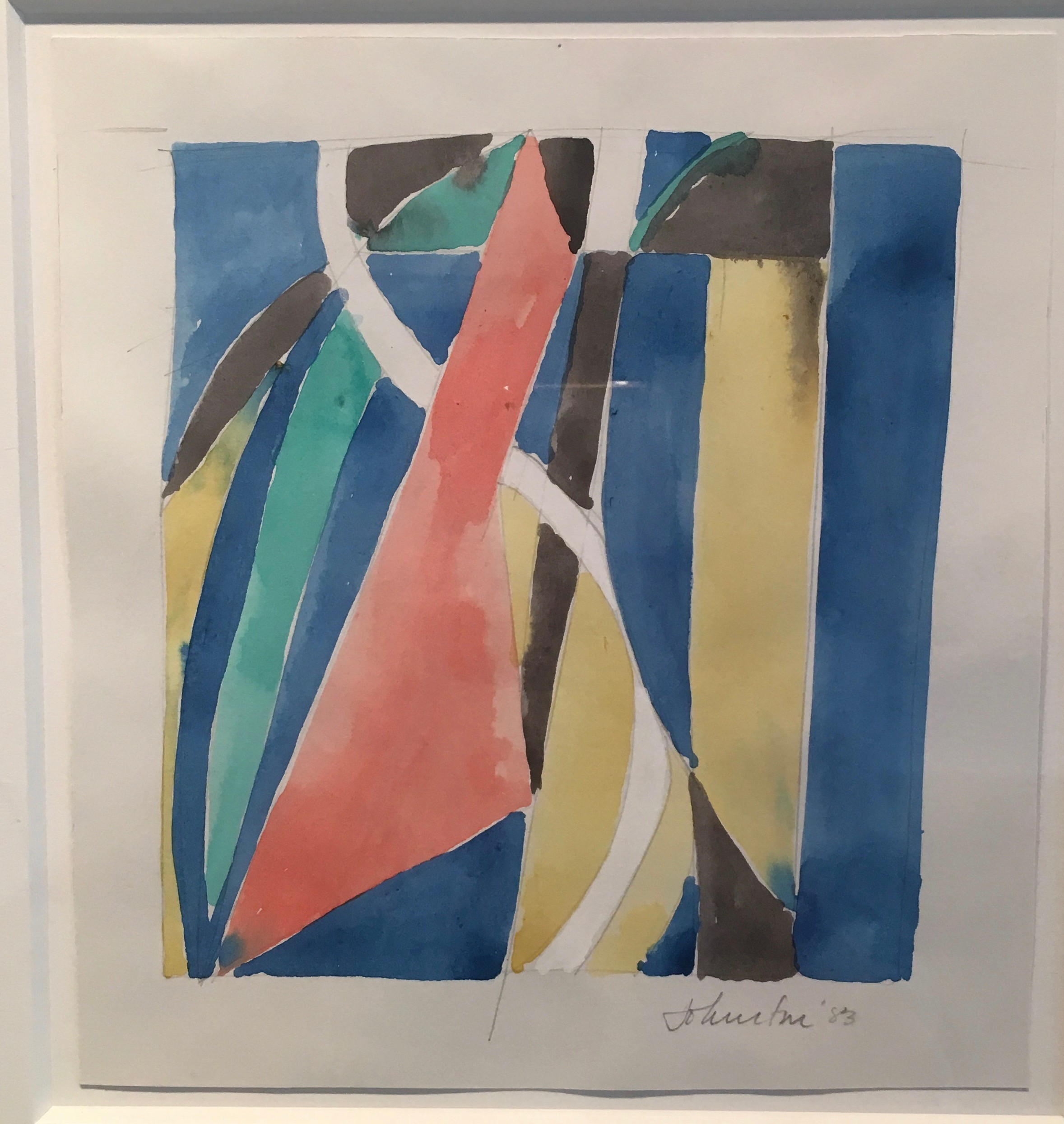 Untitled, Color Study , 1983 Acrylic and pencil on paper 9.50H x 8.75W inches