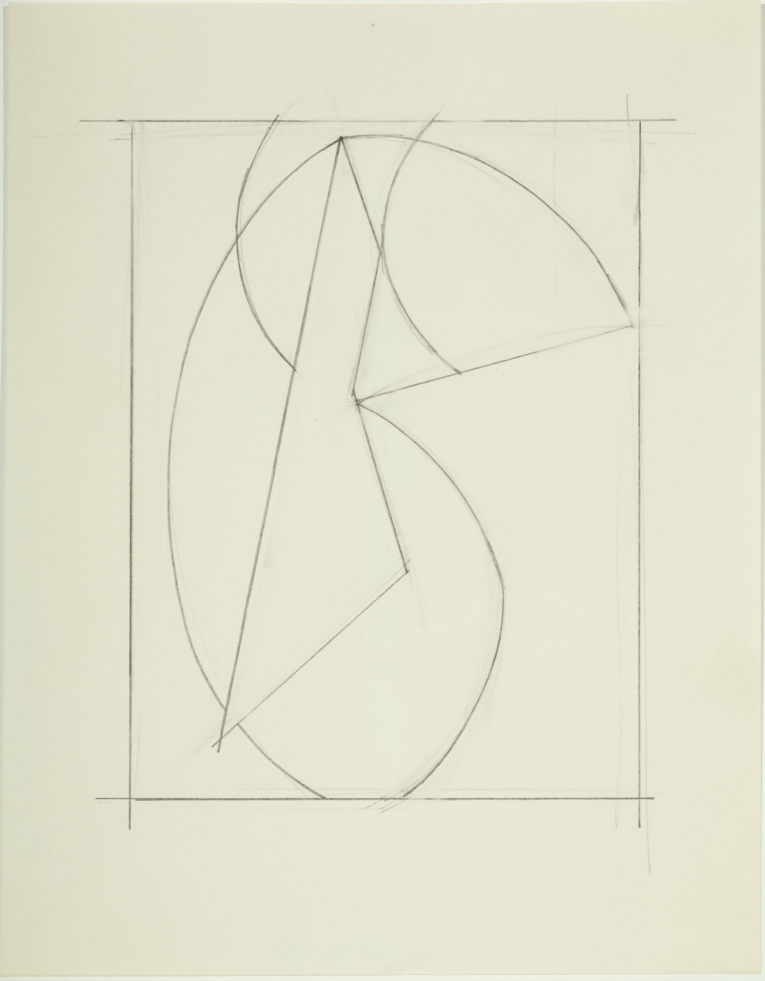 Untitled , 1983 Pencil on paper 11H x 8.50W inches