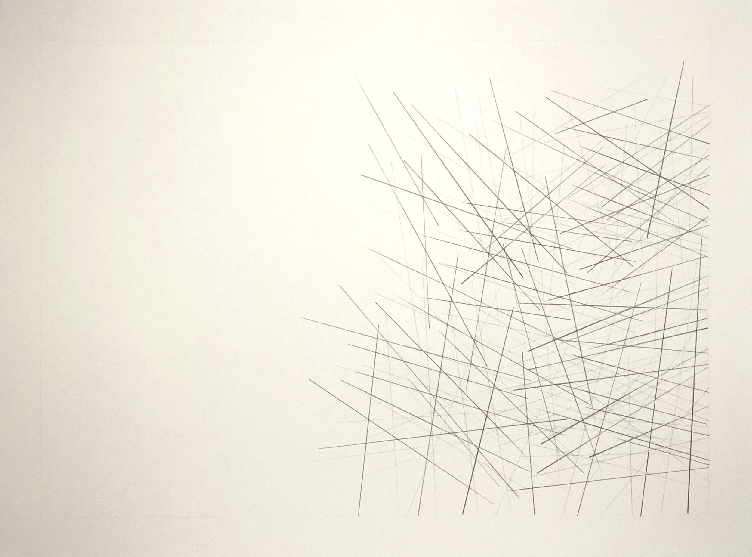 Anshun, China 26.2478, 105.9281,  2018  Graphite on paper  18H x 24W inches unframed  21.75H x 27.75W inches framed