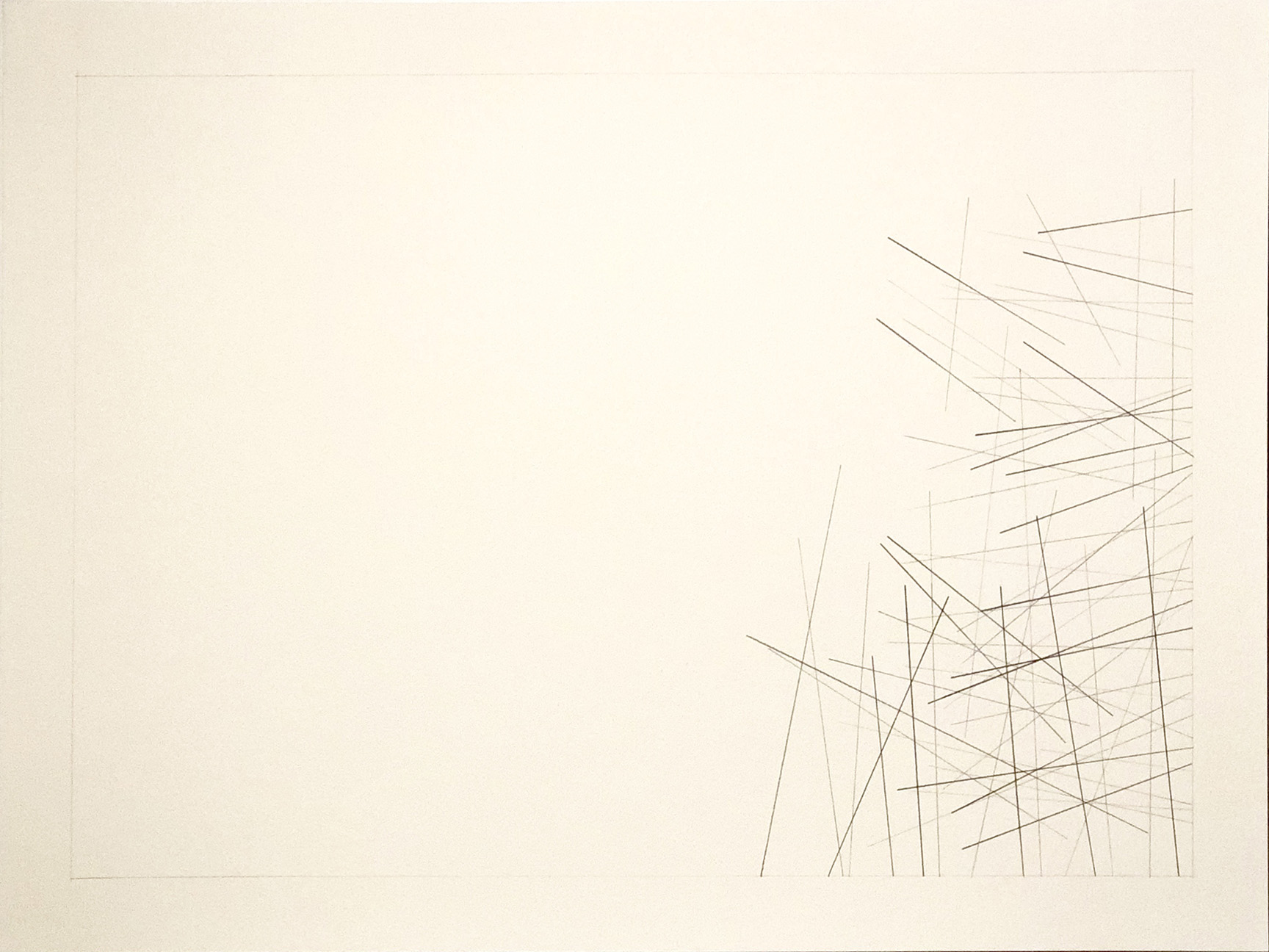 Parowan, Utah 37.8455, -112.8253,  2018  Graphite on paper  18H x 24W inches unframed  21.75H x 27.75W inches framed