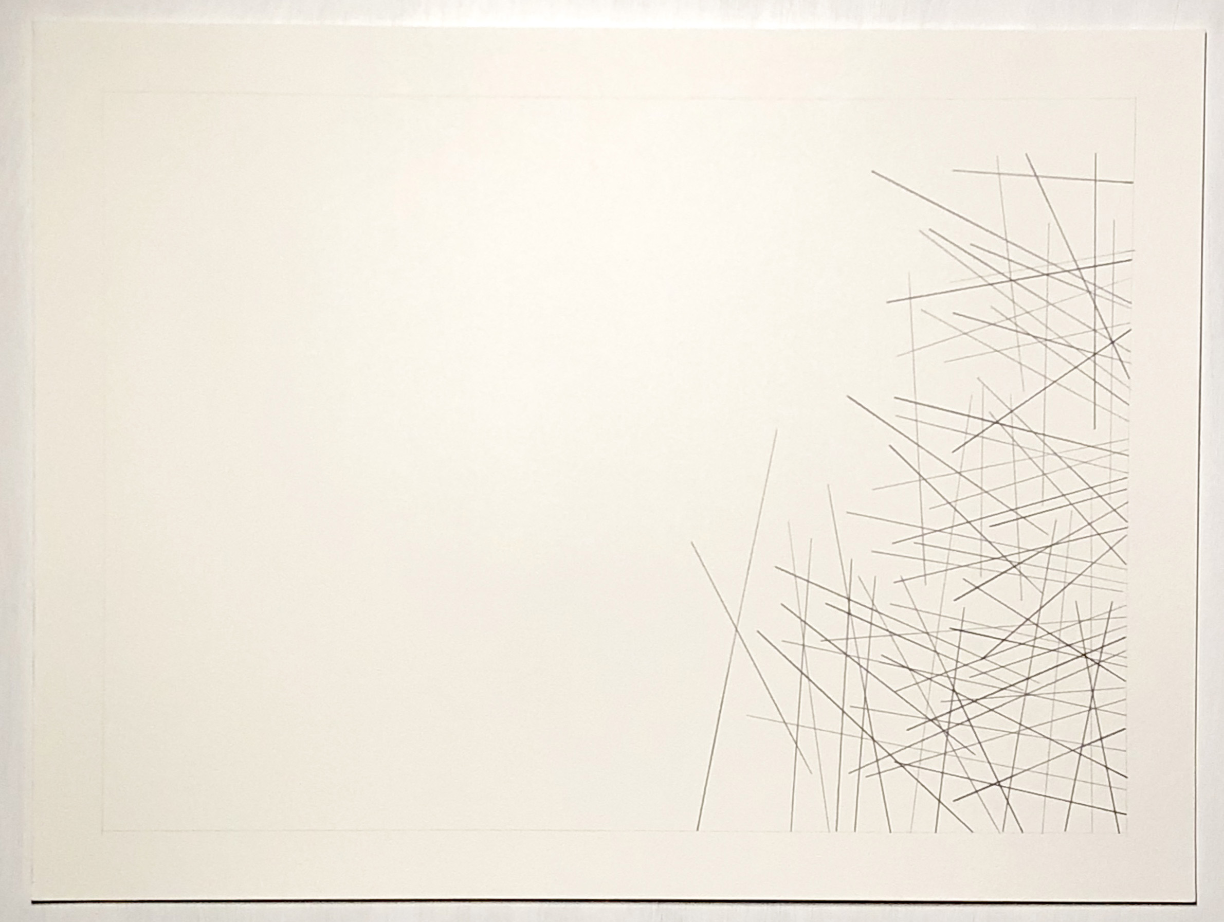 Pucallpa, Peru -8.3745, -74.5698,  2018  Graphite on paper  18H x 24W inches unframed  21.75H x 27.75W inches framed