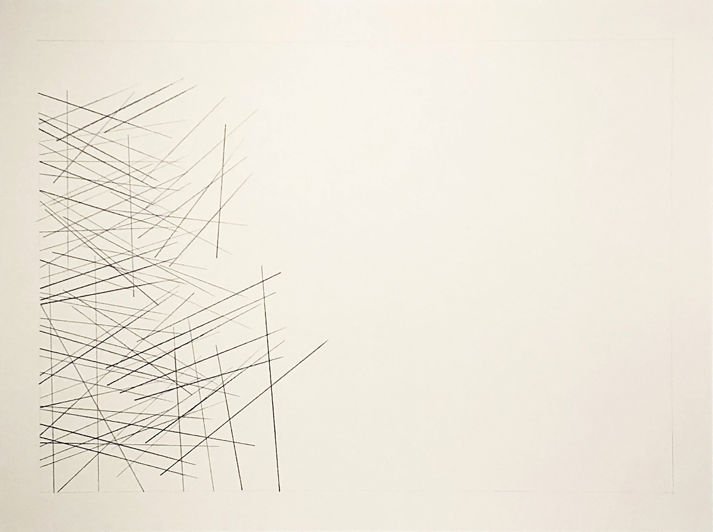 Talca, Chile -35.4217, -71.6196,  2018  Graphite on paper  18H x 24W inches unframed  21.75H x 27.75W inches framed