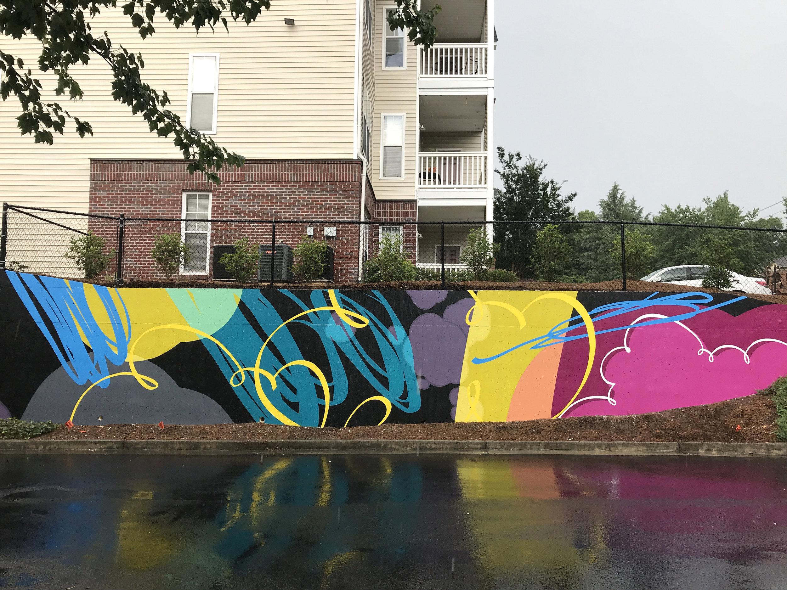 Atlanta Beltline , 2018  Atlanta, Georgia  Acrylic latex on concrete  400 square feet