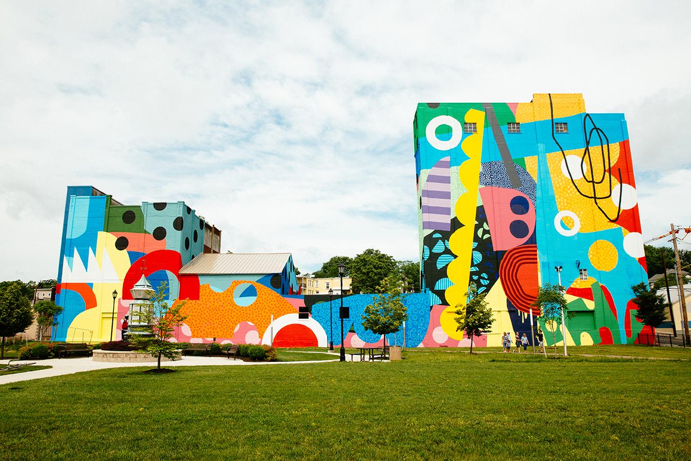 Building Blocks  , 2017  Hagerstown, Maryland  Acrylic on mansonry