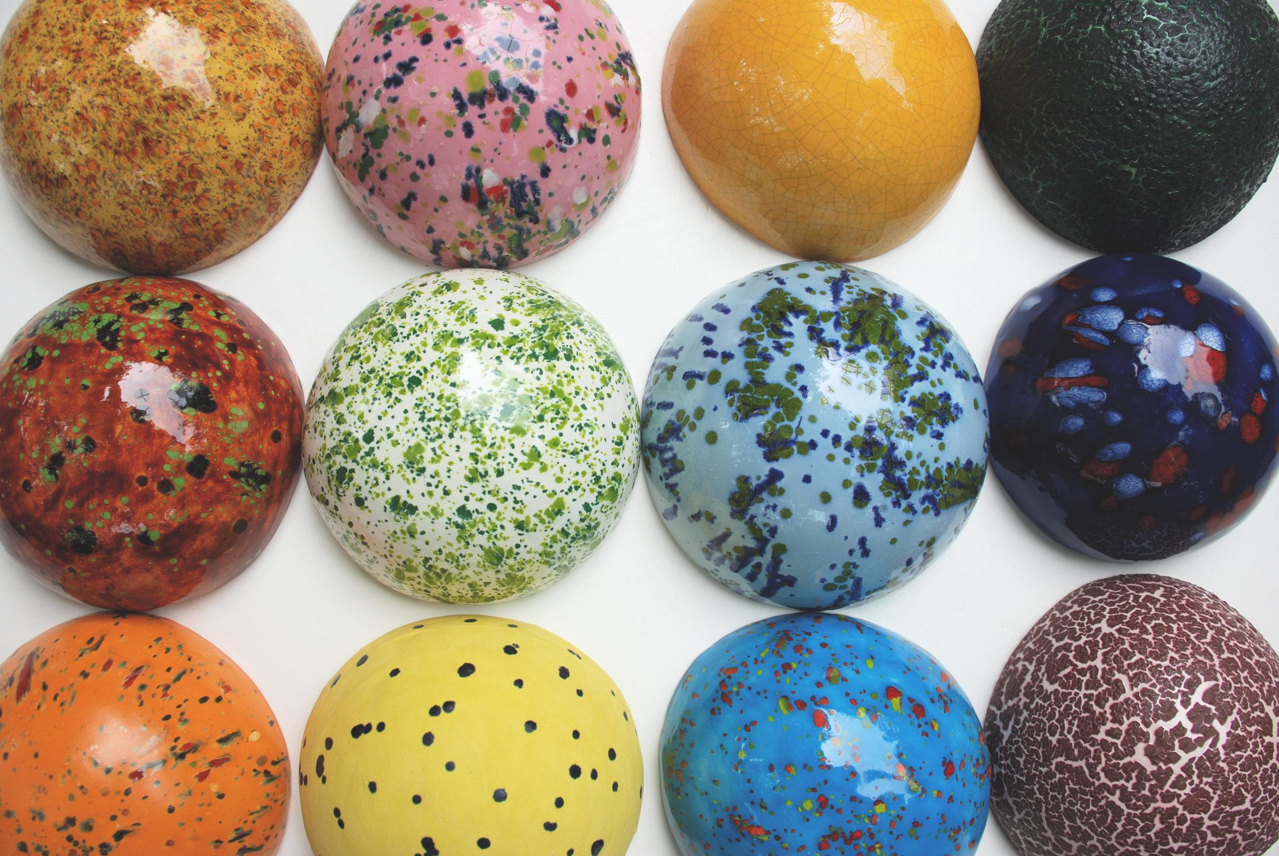 Domes    Ceramic  Sizes vary