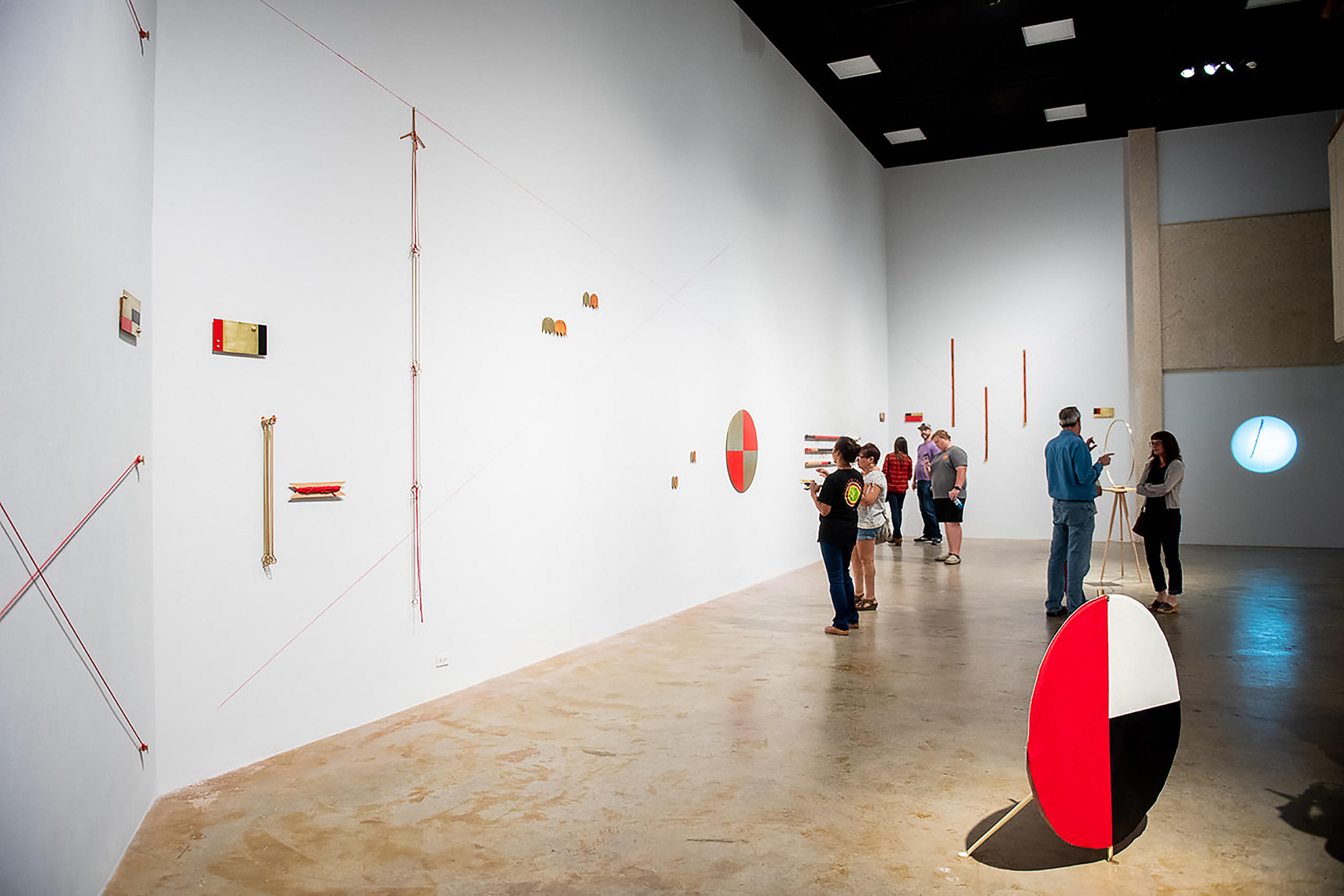Martha Whittington at Texas A&M Corpus Christi - Martha Whittington's show, Line of Sight II, which ran November 5 - December 7 at Weil Gallery on the Texas A&M Corpus Christi campus, was recently featured on the college's website. See photos from the artist's talk here and an article about the show here.image: Martha Whittington, Line of Sight II, installation view courtesy of Texas A&M University, Corpus Christi
