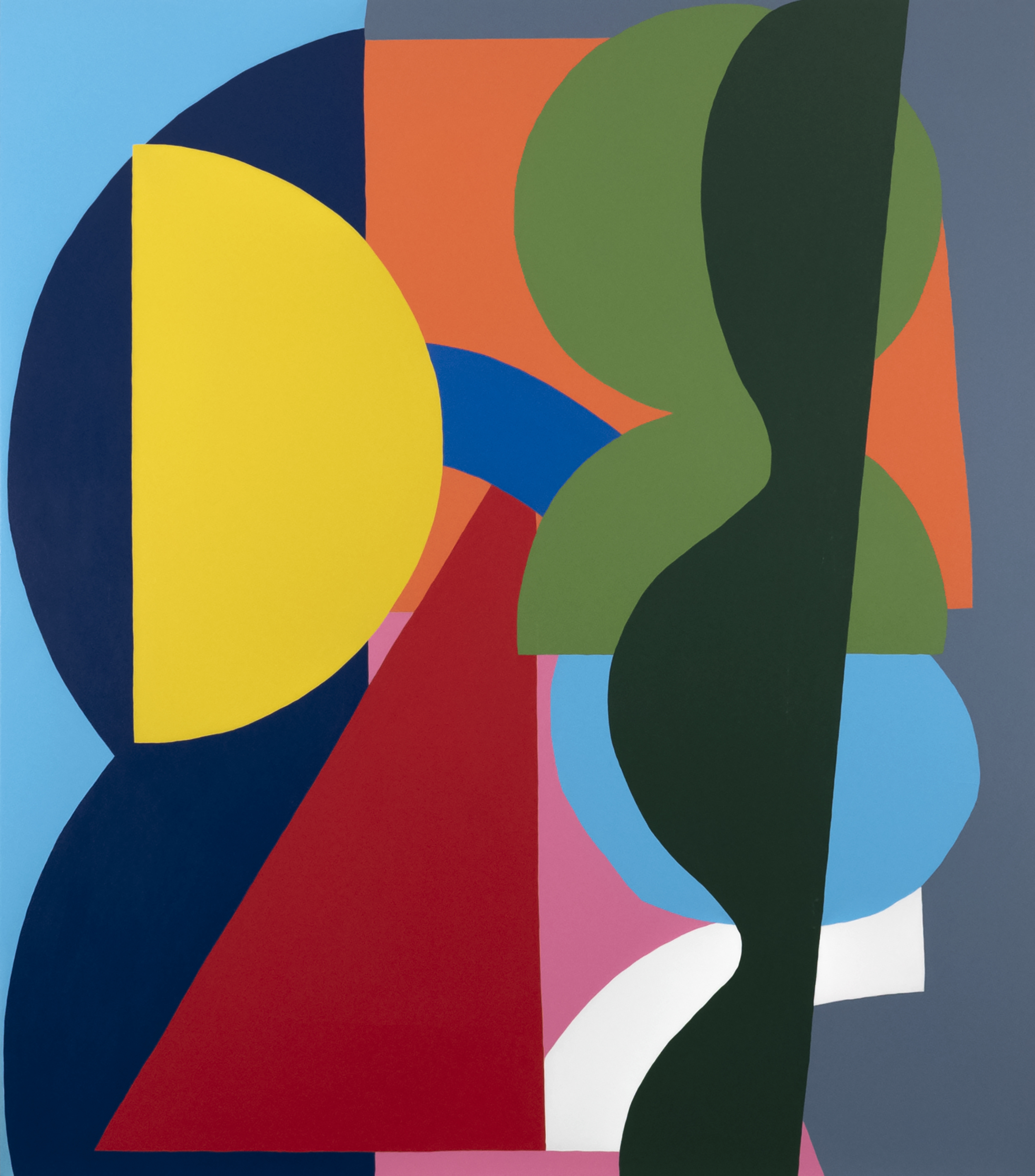 Angle , 2018  Acrylic on canvas  96 x 84 inches