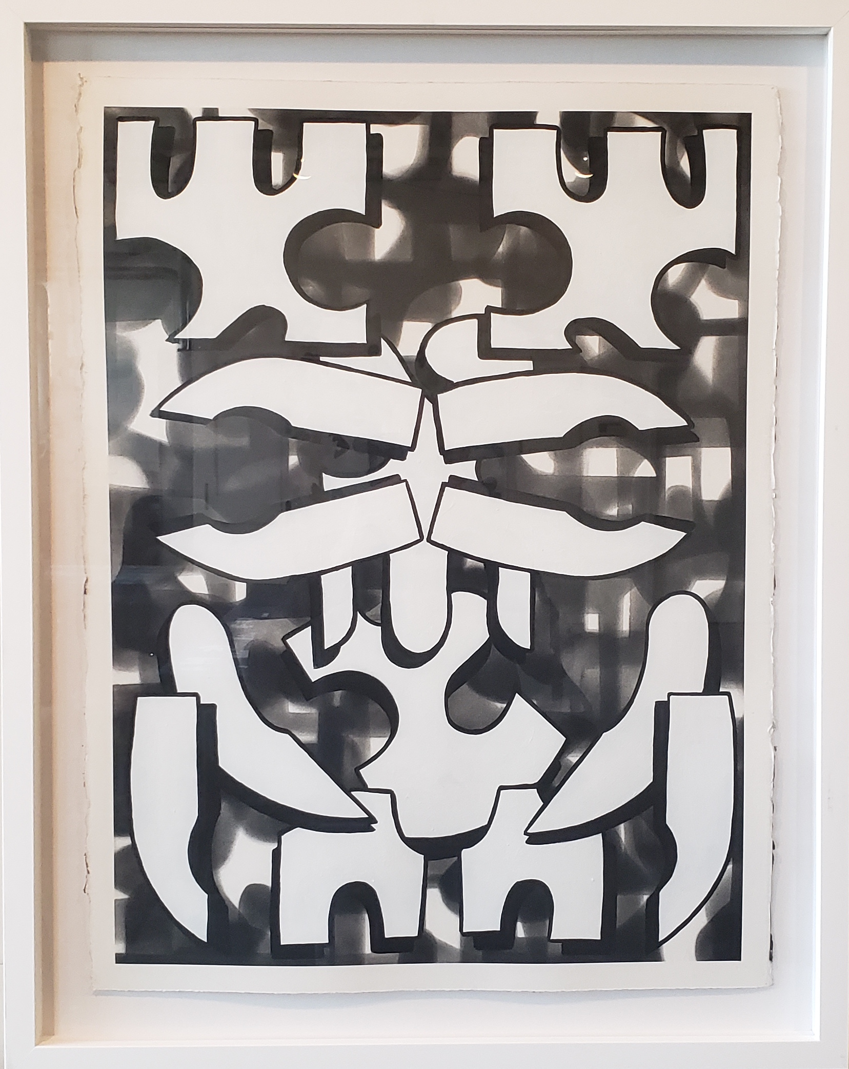 Cabeza 2,  2018  Acrylic on paper  30 x 22 in.