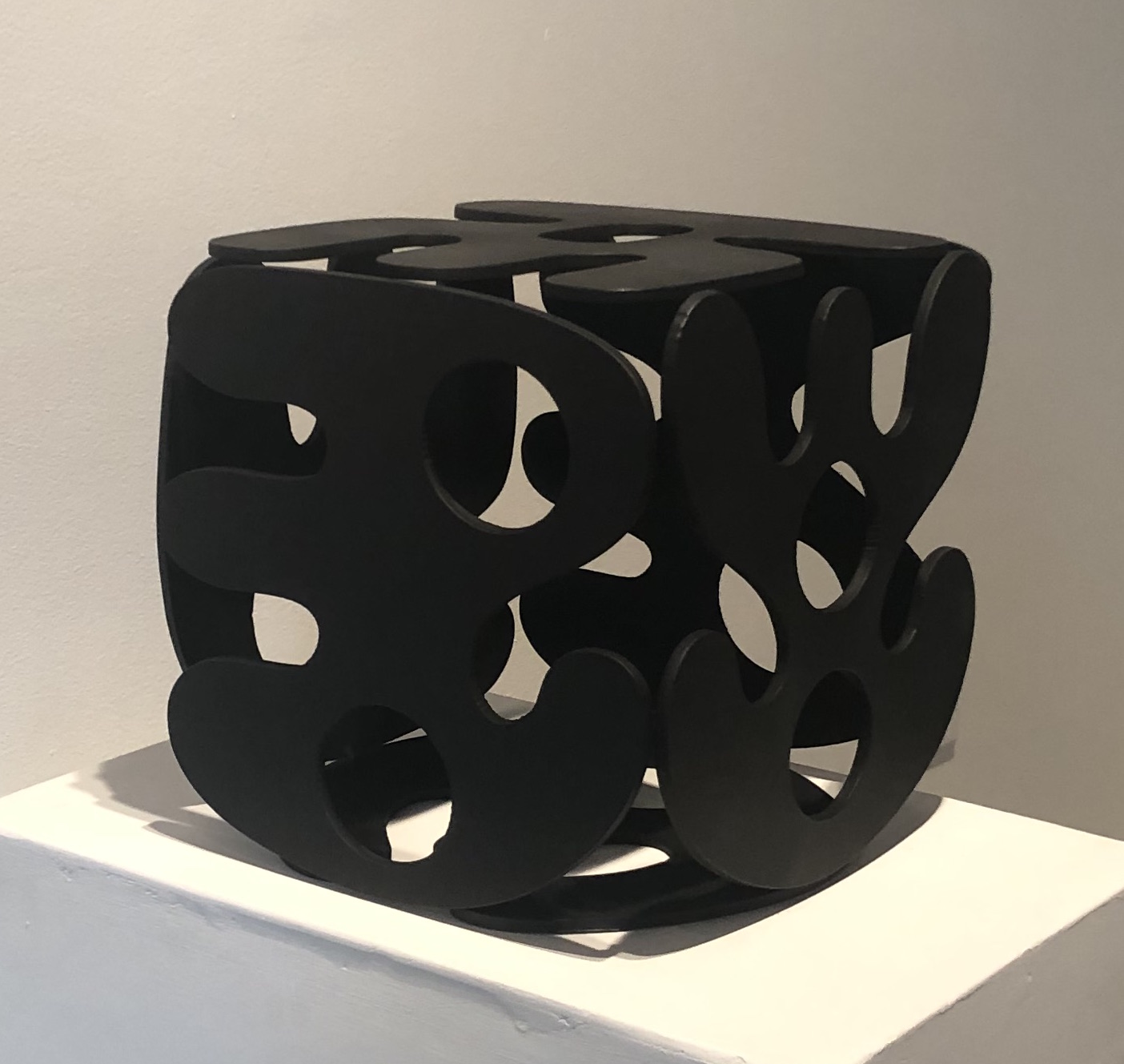 Cubed Alphabet (Black),  2019  Paint on steel  12 x 12 x 12 in.