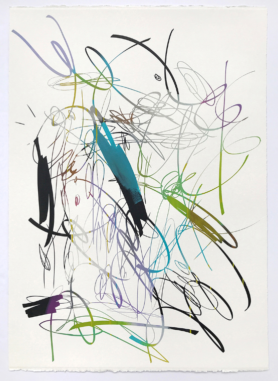 Untitled  , 2018  Acrylic on paper  41.5W x 29.5W inches