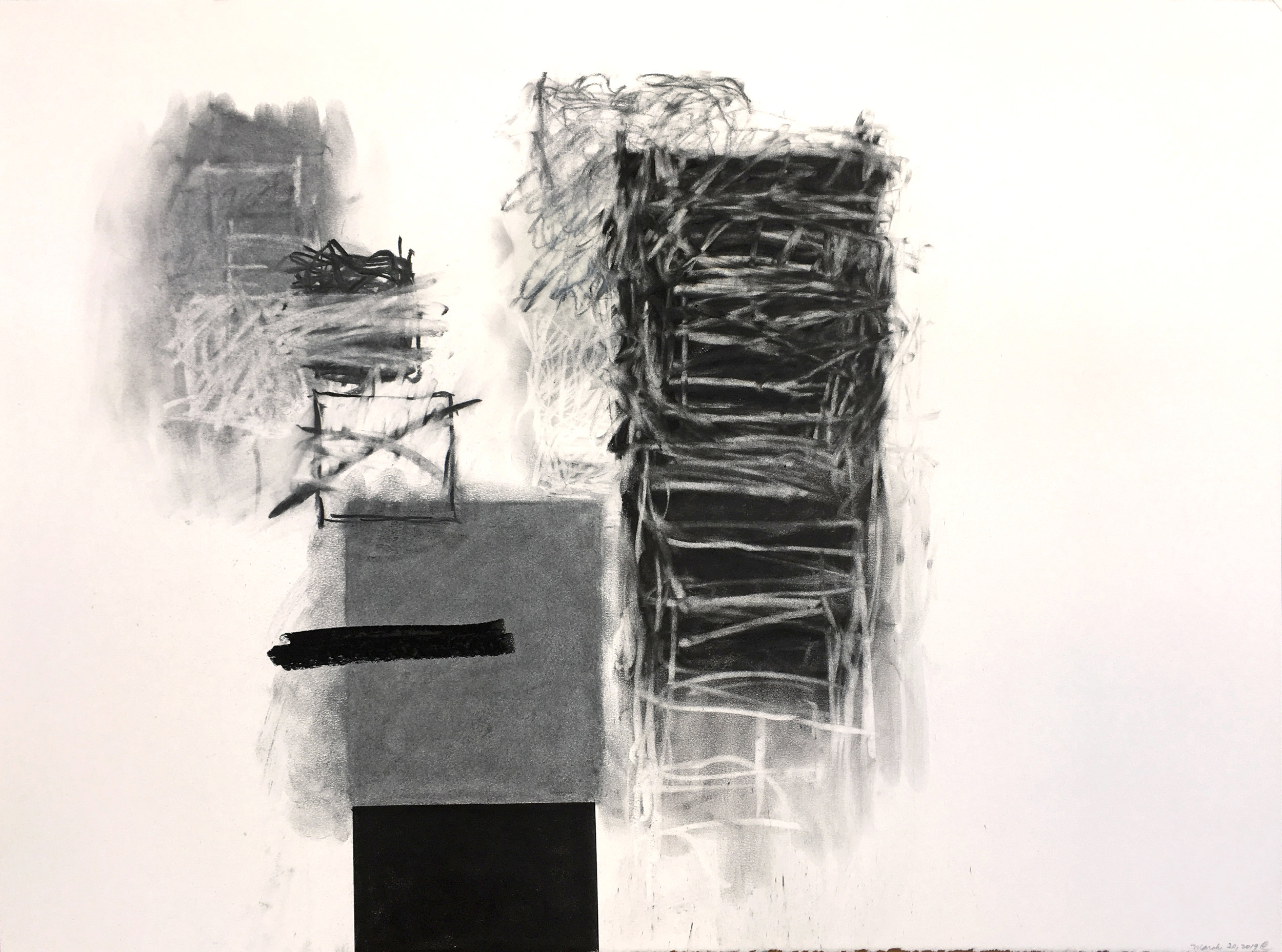 Rocío Rodríguez   March 20, 2019,  2019  Pastel and charcoal on paper  22.5H x 30W inches