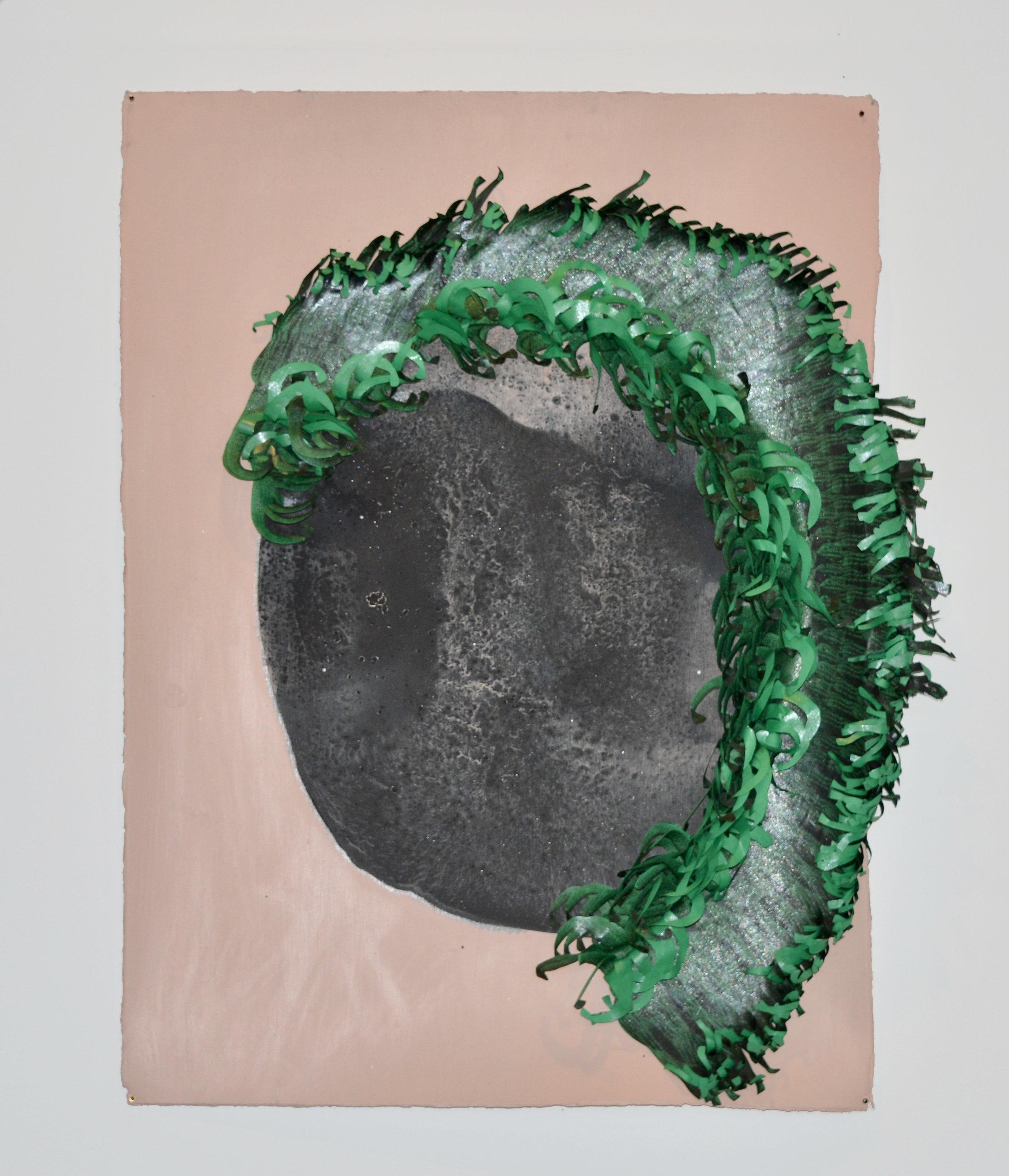 Yanique Norman   Quashie Silences: Jade Pinkgill Reverbs #1,  2019  Acrylic, gouache, matte medium, xerox, and collage on paper  30H x 22W inches