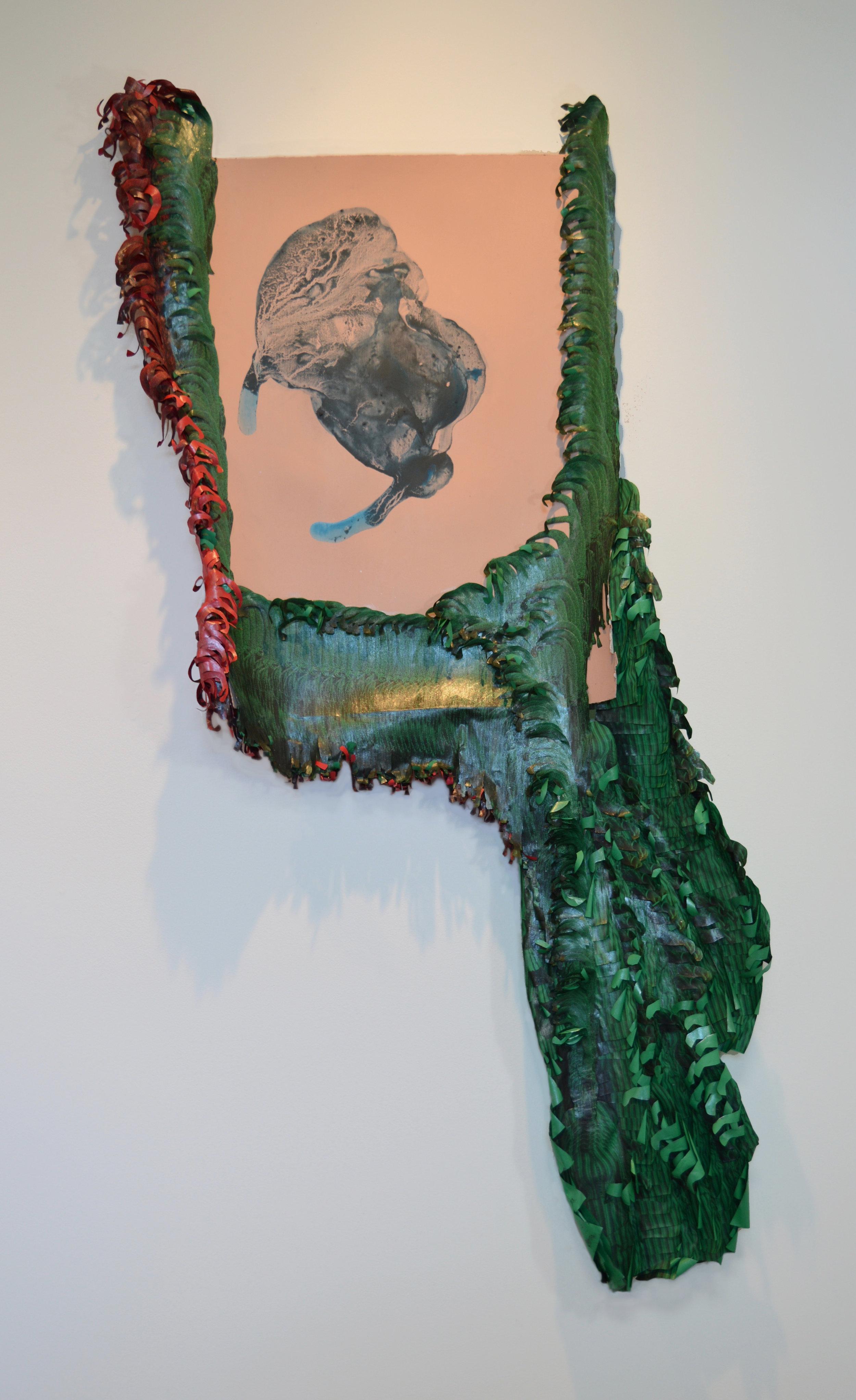 Yanique Norman   Quashie Silences: Jade Pinkgill Reverbs #2,  2019  Acrylic, gouache, matte medium, xerox, and collage on paper  64H x 36W inches
