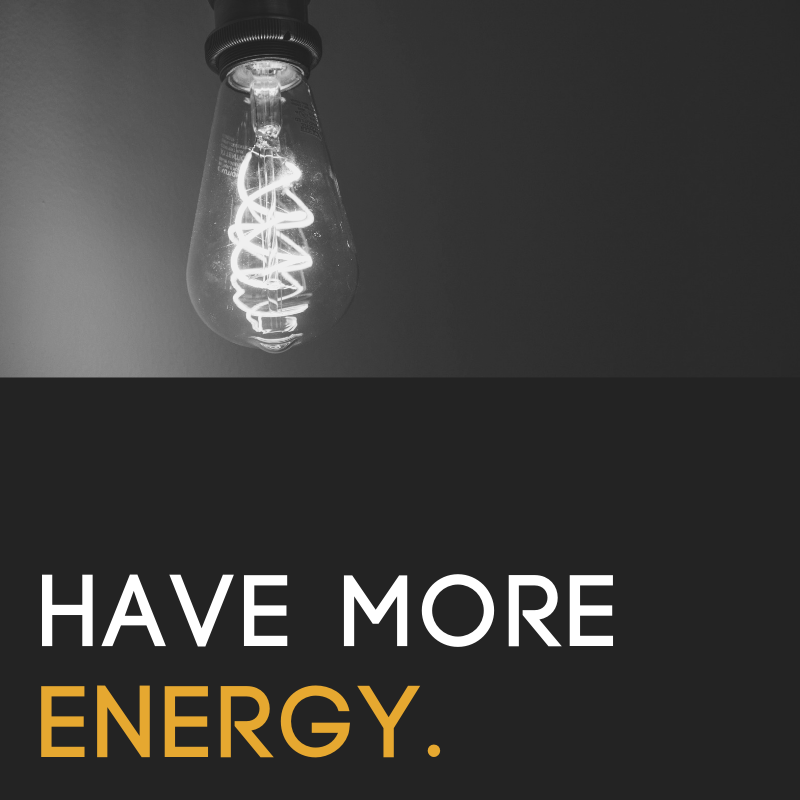 Energy Hacks - We all know the basics of having more energy. In this resource, I offer a few, next-level, extra-ordinary energy hacks.
