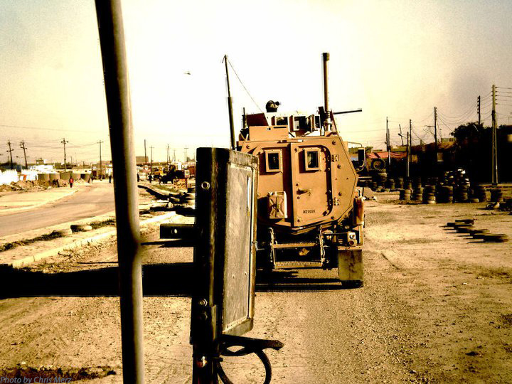 Rolling down the streets of Samarra, Iraq in 2008.