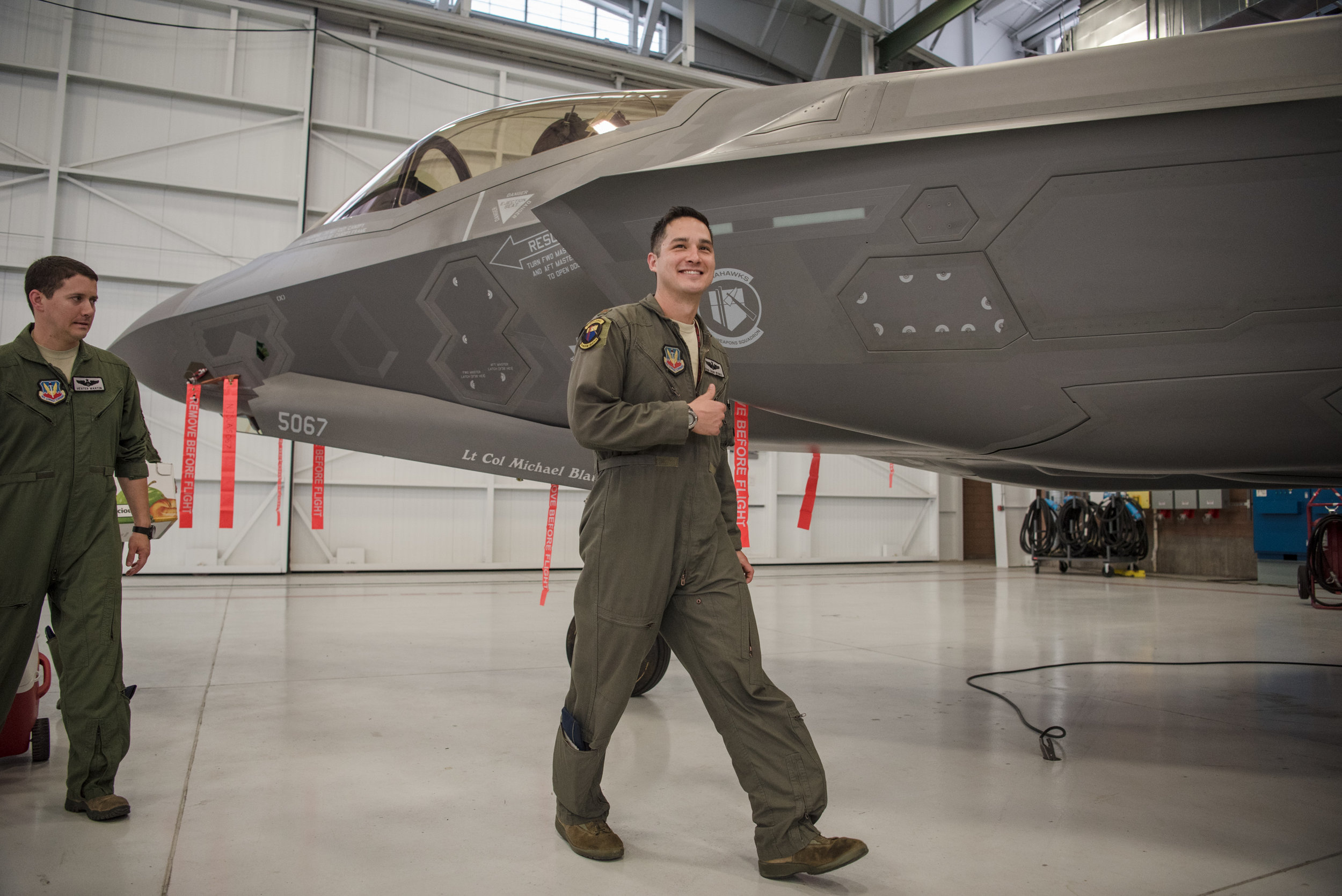 Wang Chung-Werner showing a smile at Nellis Air Force Base after an activation ceremony of an F-35A Lightning II joint strike fighter jet on Tuesday, June 21, 2017, in Las Vegas. Morgan Lieberman Las Vegas Review-Journal