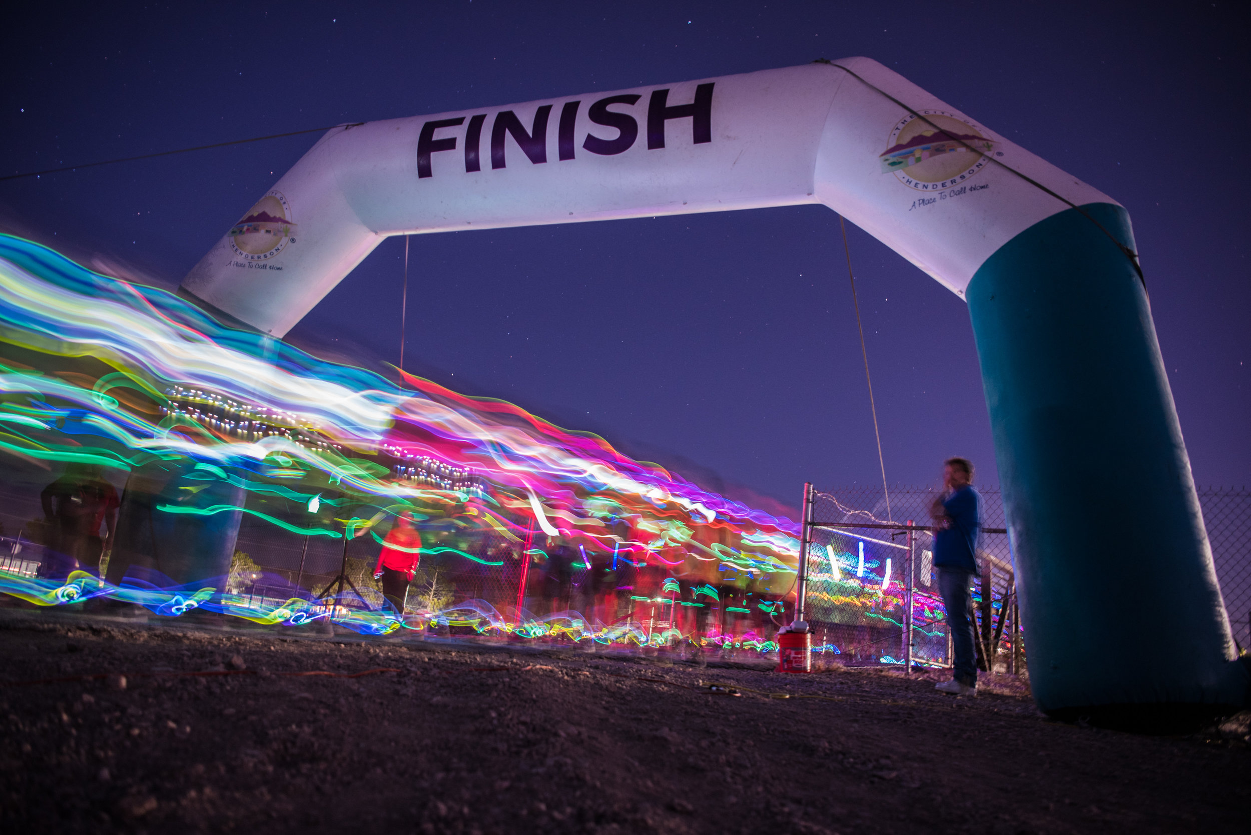 The start of the Glow Worm 5K Fun Run at Equestrian Park South and Trailhead on Saturday, June 17, 2017, in Las Vegas. Morgan Lieberman Las Vegas Review-Journal