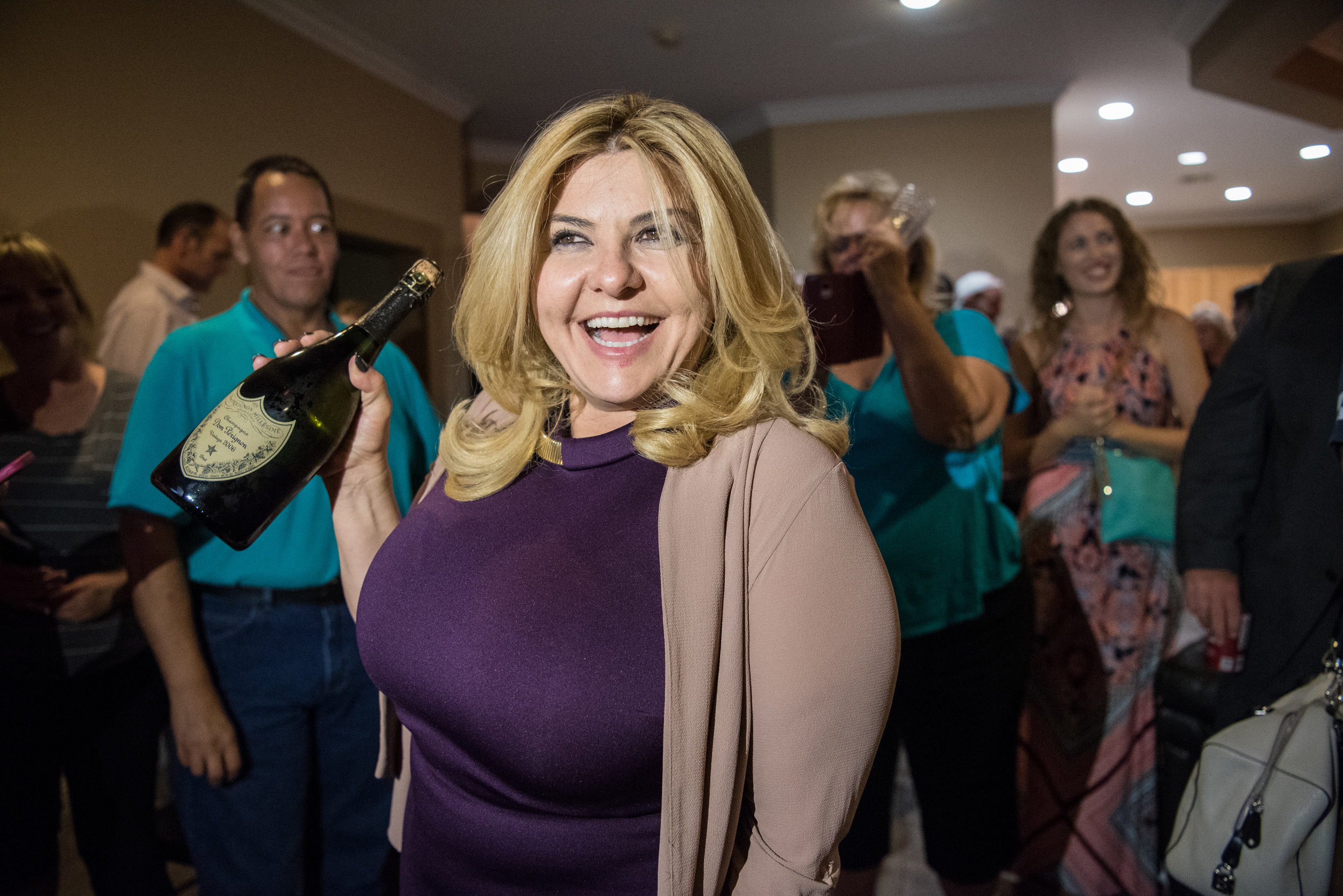 Michele Fiore celebrates winning the Ward 6 Las Vegas City Councilwoman position on Tuesday, June 13, 2017 in Las Vegas. Morgan Lieberman Las Vegas Review-Journal