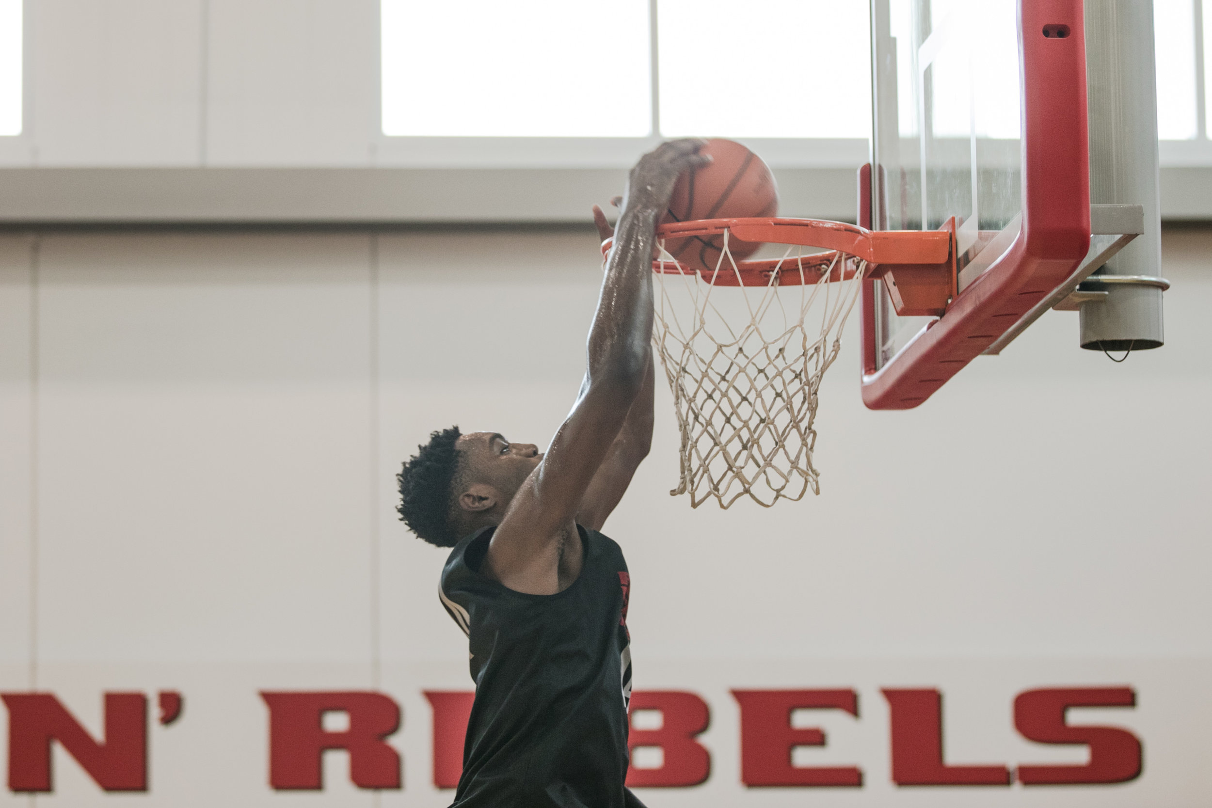 UNLV Men's Basketball top newcomer Brandon McCoy at practice at UNLV Mendenhall Center on Monday, July 31, 2017, in Las Vegas. Morgan Lieberman Las Vegas Review-Journal
