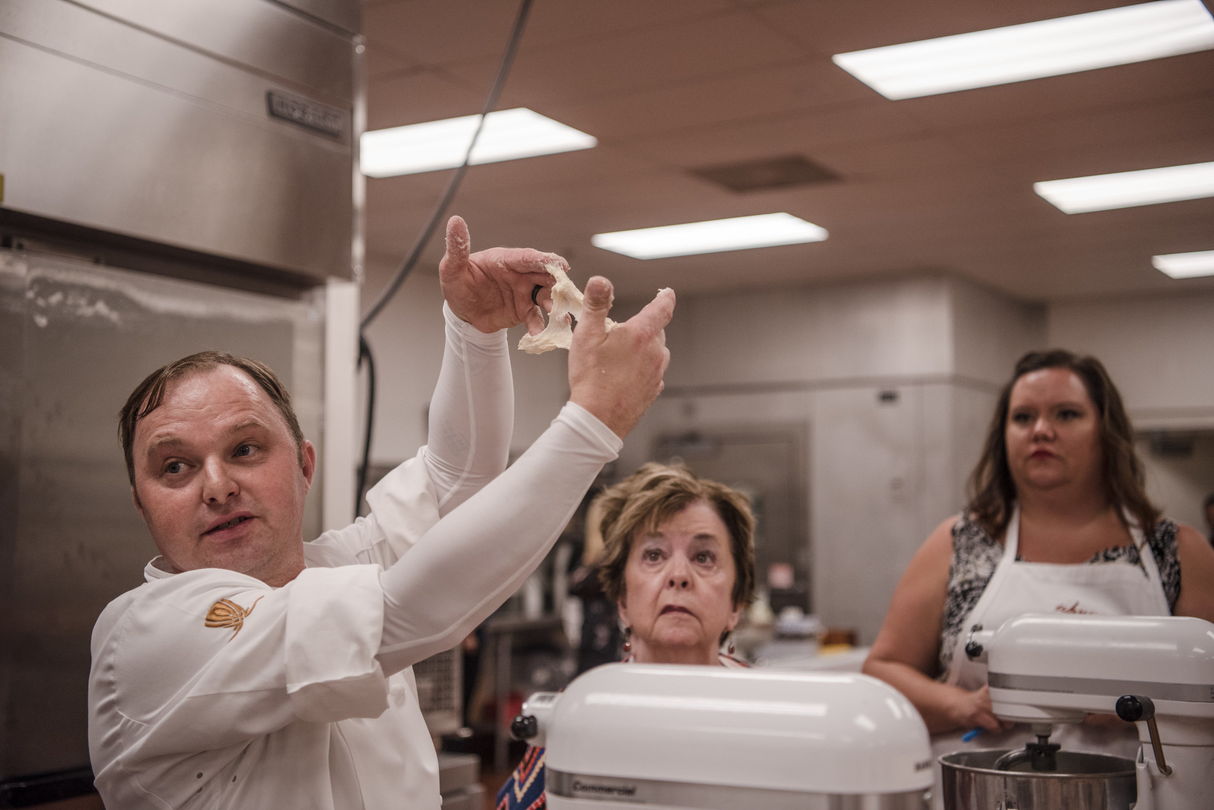 Chef Johann Willar leads a master class of bread baking for hotel guests on Thursday, July 27, 2017, at Wynn hotel-casino in Las Vegas. Morgan Lieberman Las Vegas Review-Journal