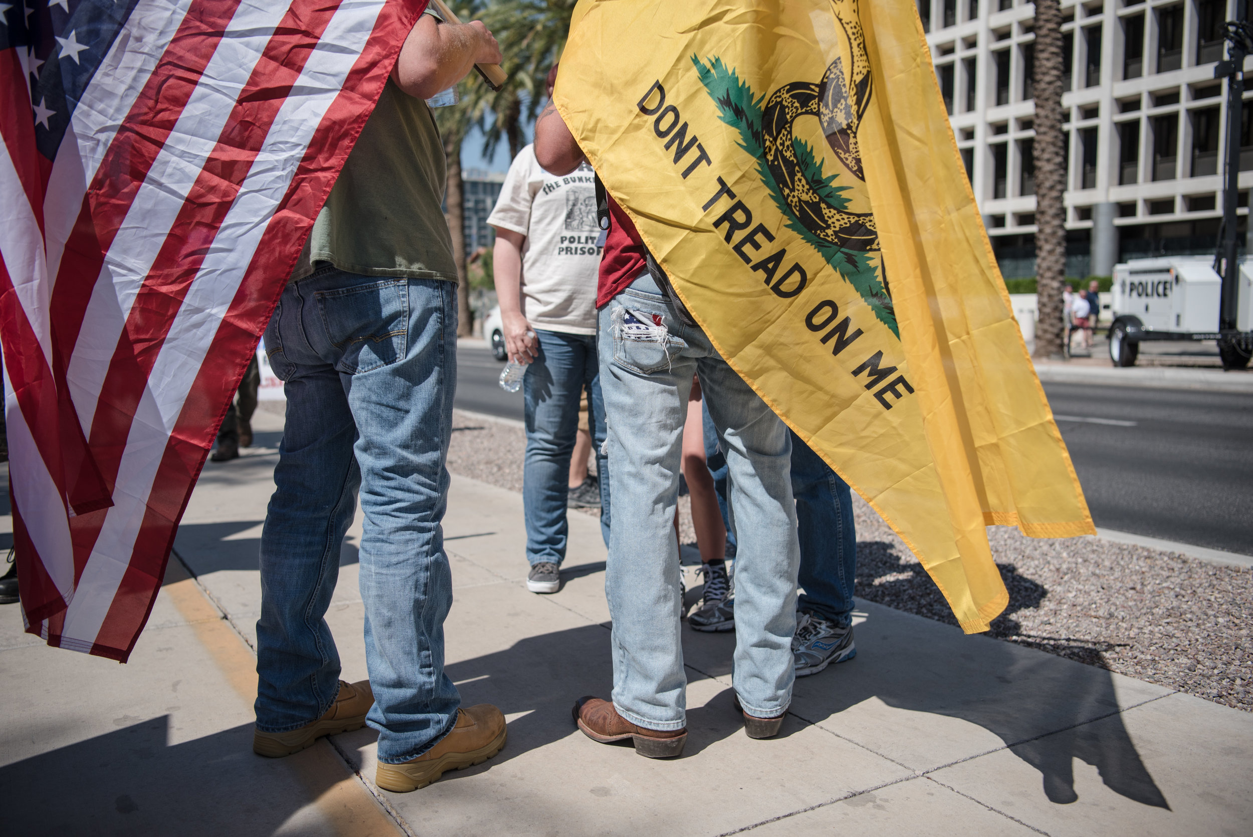 A rally to bring awareness to the Bundy Political Prisoners begins at the Federal Courthouse on Saturday, July 15, 2017, in Las Vegas. Morgan Lieberman Las Vegas Review-Journal