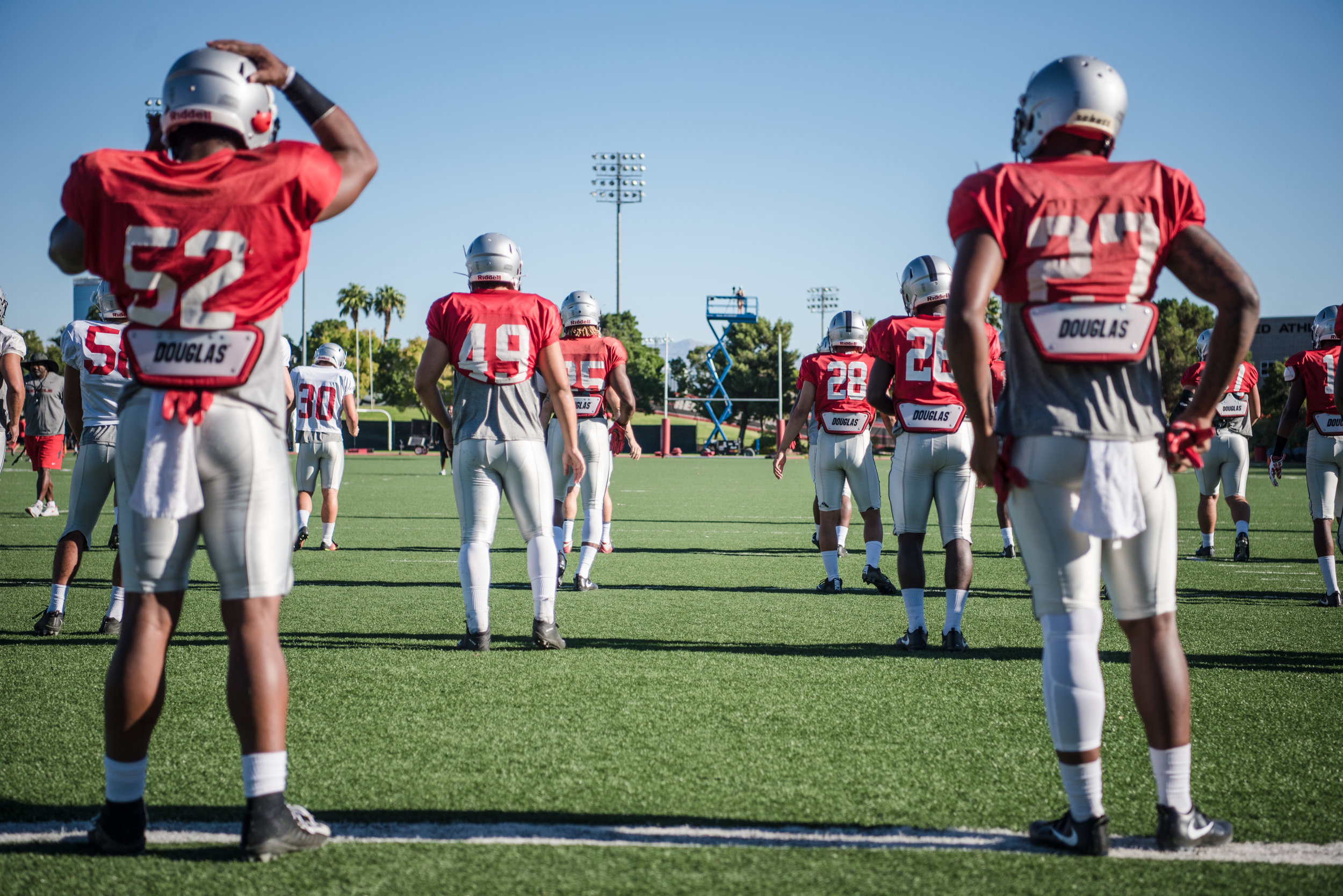 UNLV Men's Football at UNLV Rebel Park during practice on Saturday, Aug. 19, 2017, in Las Vegas. Morgan Lieberman Las Vegas Review-Journal
