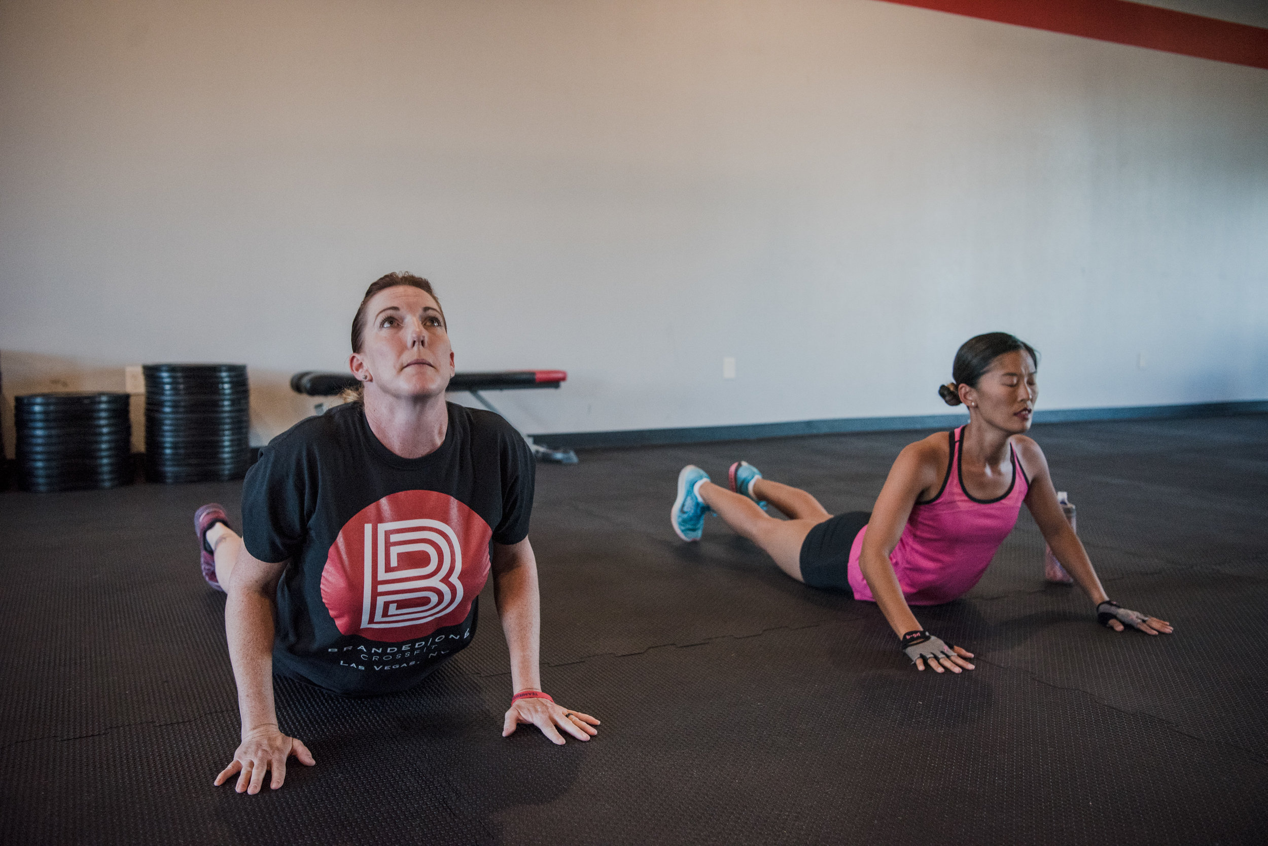 Elizabeth Higgins trains with Leah Elmquist at Branded One Cross Fit on Thursday, Aug. 25, 2017, in Las Vegas. Morgan Lieberman Las Vegas Review-Journal