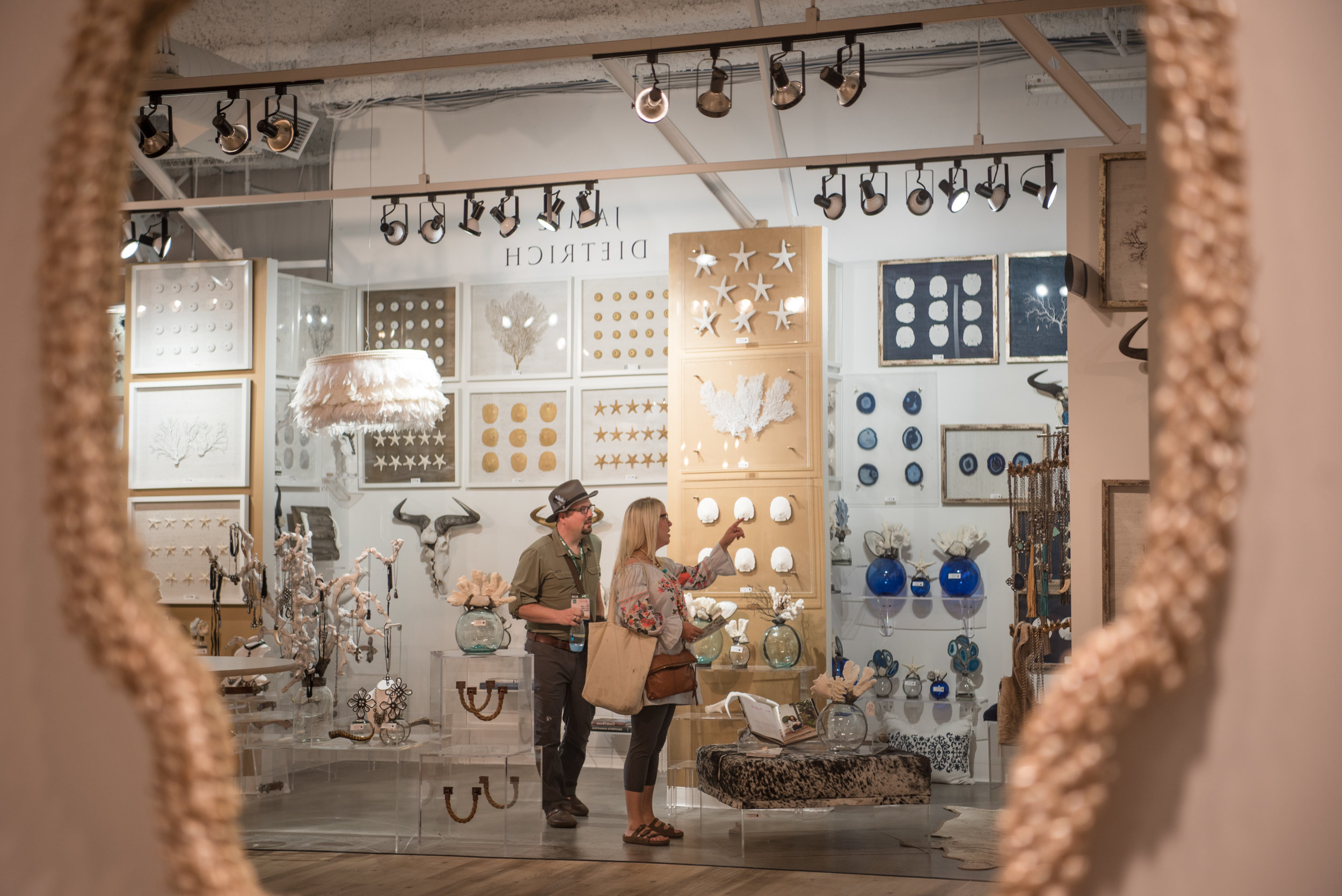 Minneapolis couple Matt Lenz and Rena Lindberg check out wall decor at Las Vegas Market at World Market Center on Tuesday, August 1, 2017, in Las Vegas. Morgan Lieberman Las Vegas Review-Journal