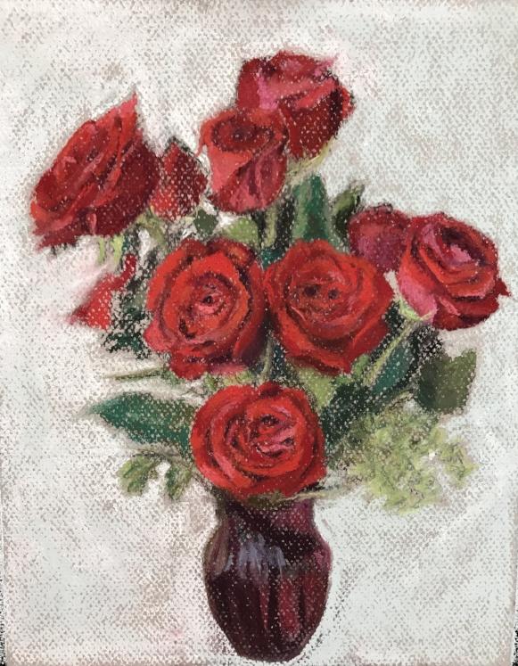 Pastel, Roses
