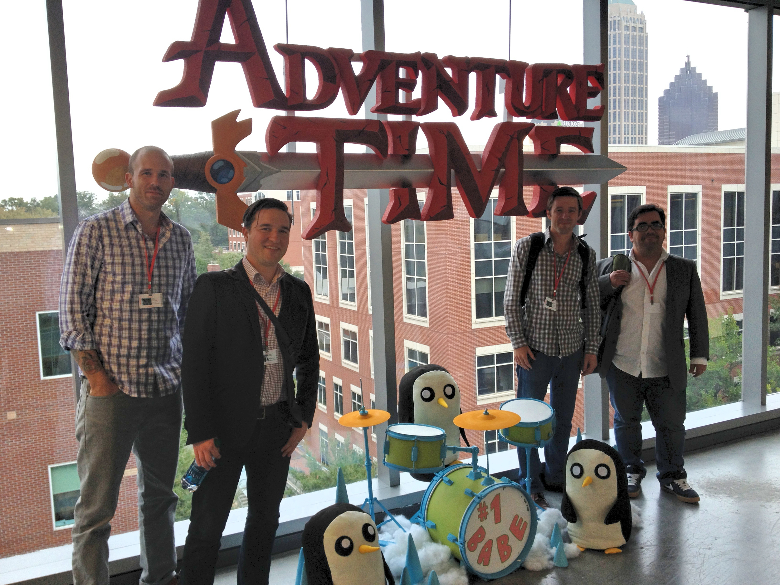 Daniel, Rob, Robin & Bradley at the Cartoon Network offices in Atlanta, GA in 2014.