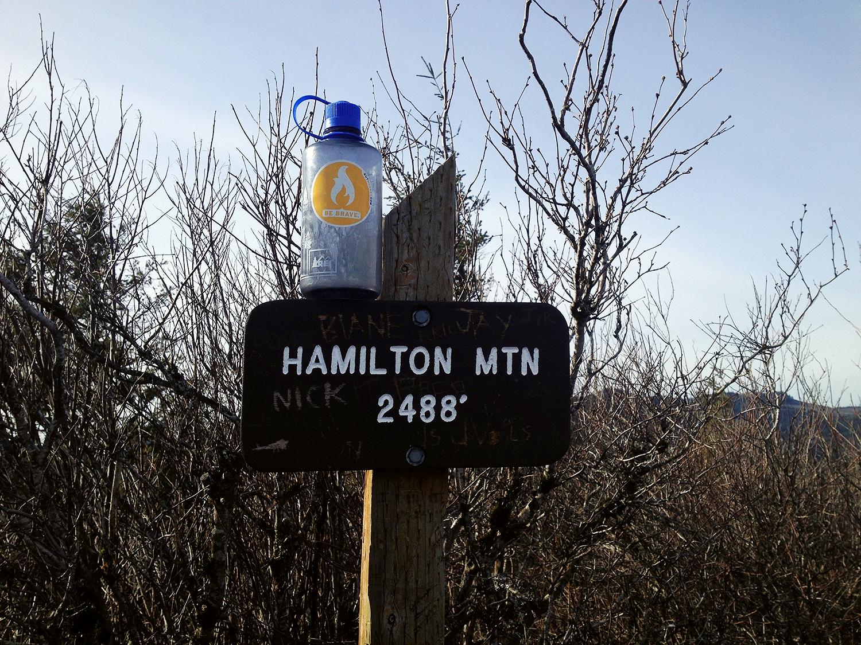 Jacose's trusty be-stickered water bottle