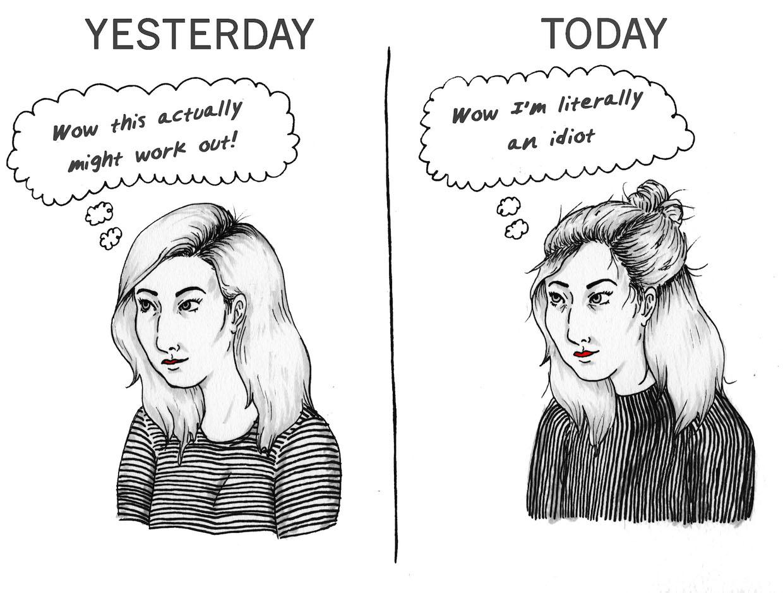 YESTERDAY / TODAY